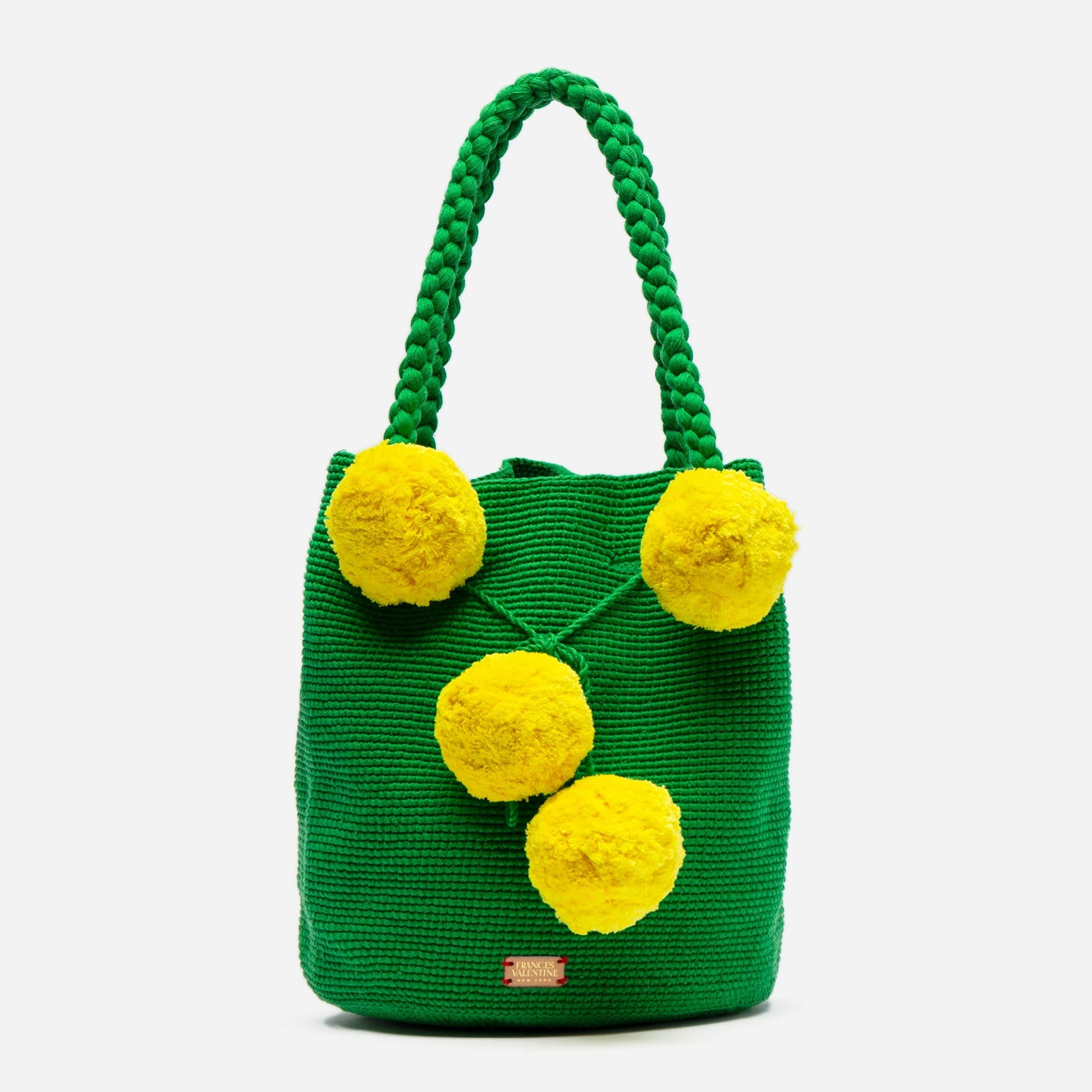 Haley Woven Bucket Green Yellow