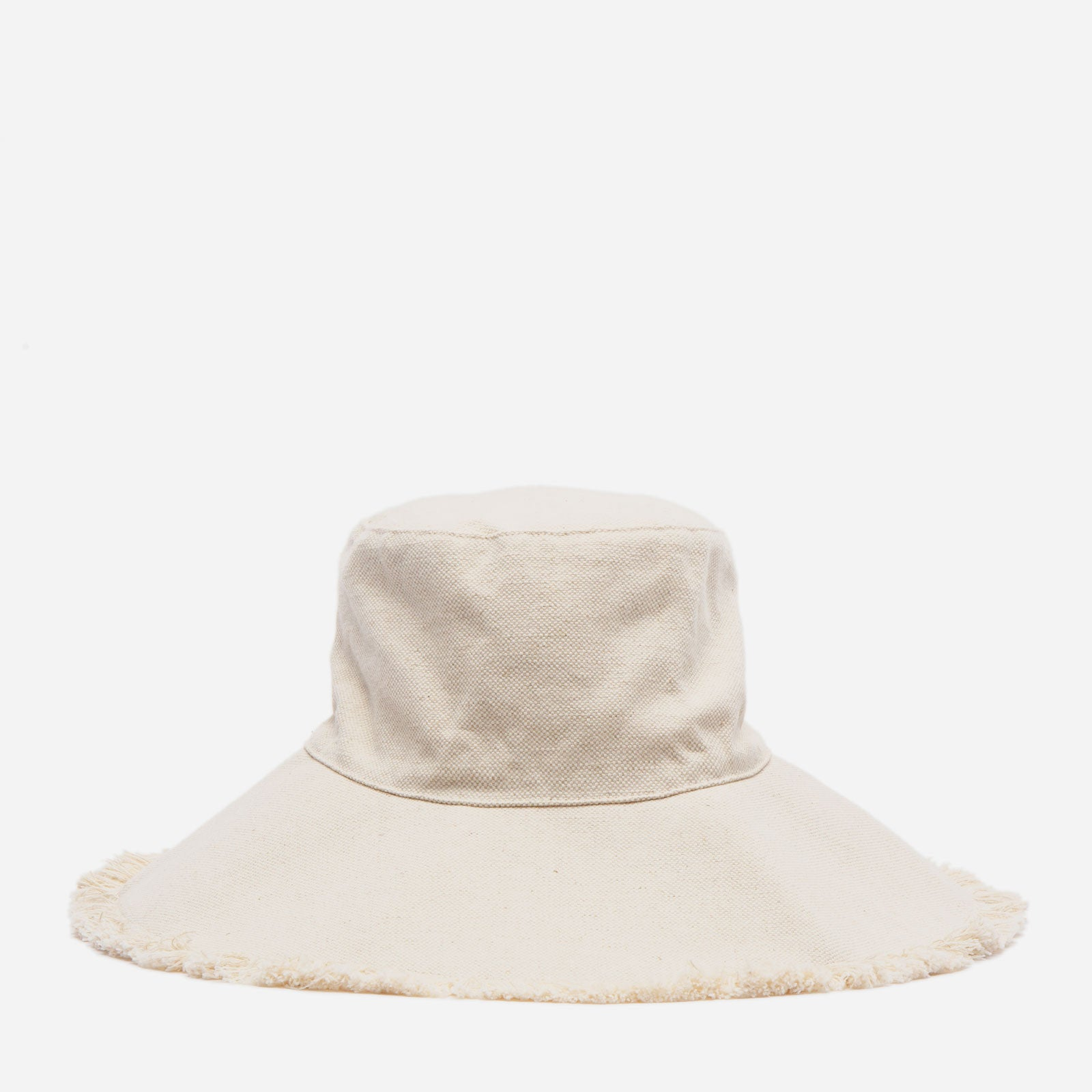 Canvas Fringe Hat Natural