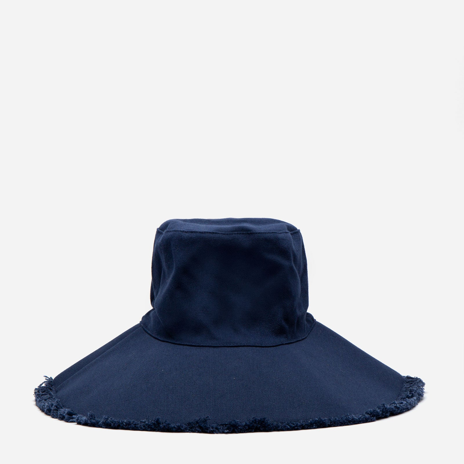 Canvas Fringe Hat Navy