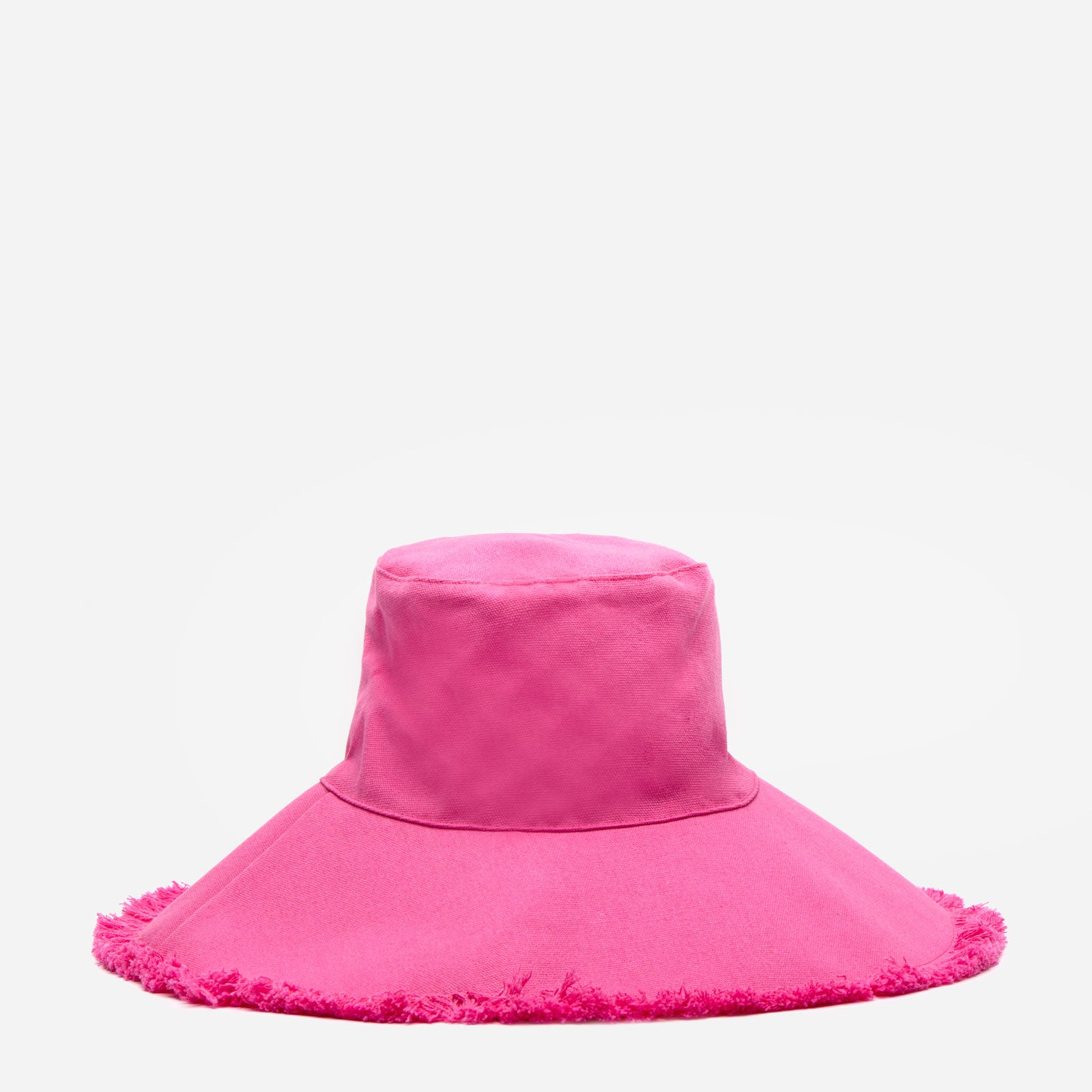 Canvas Fringe Hat Pink