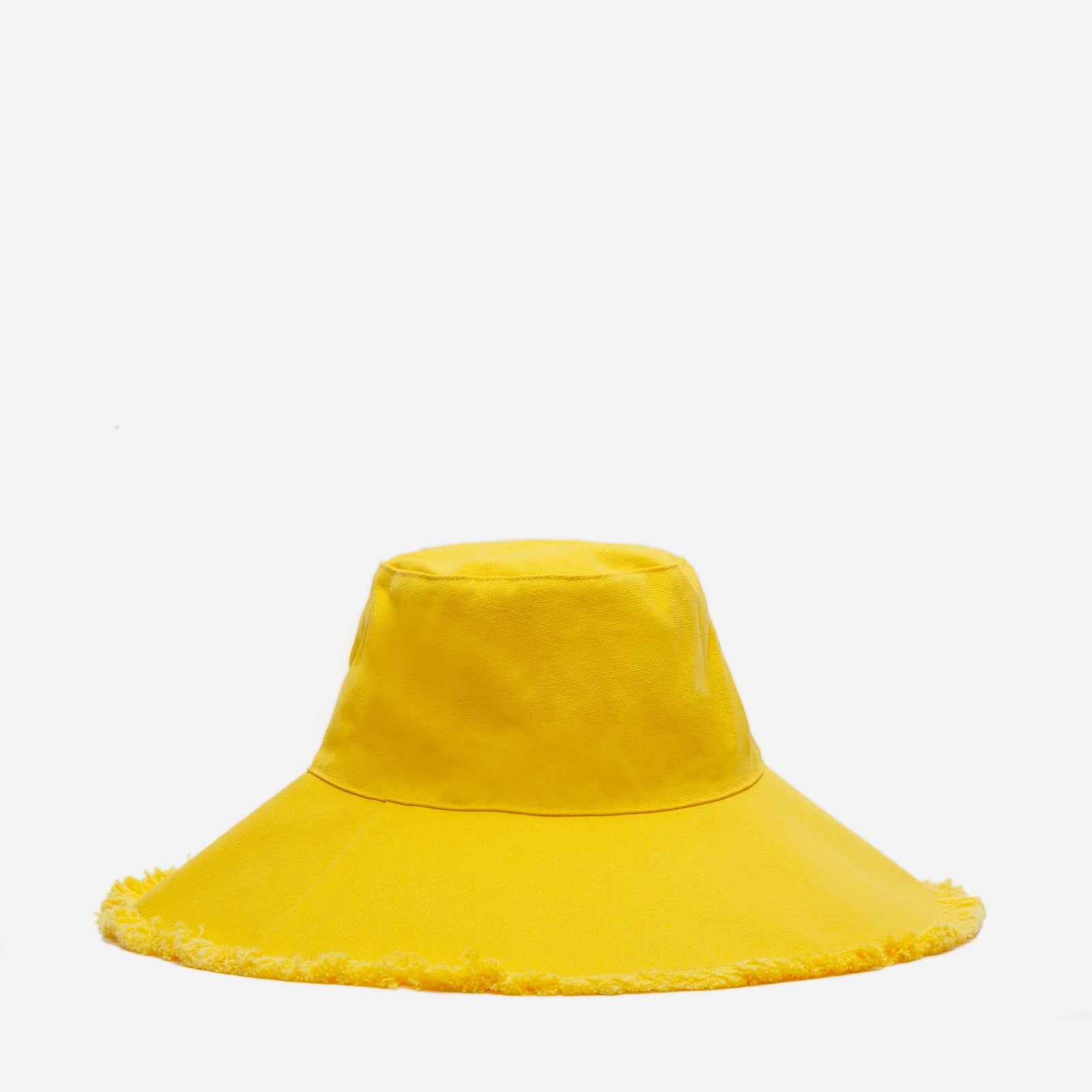 Canvas Fringe Hat Yellow