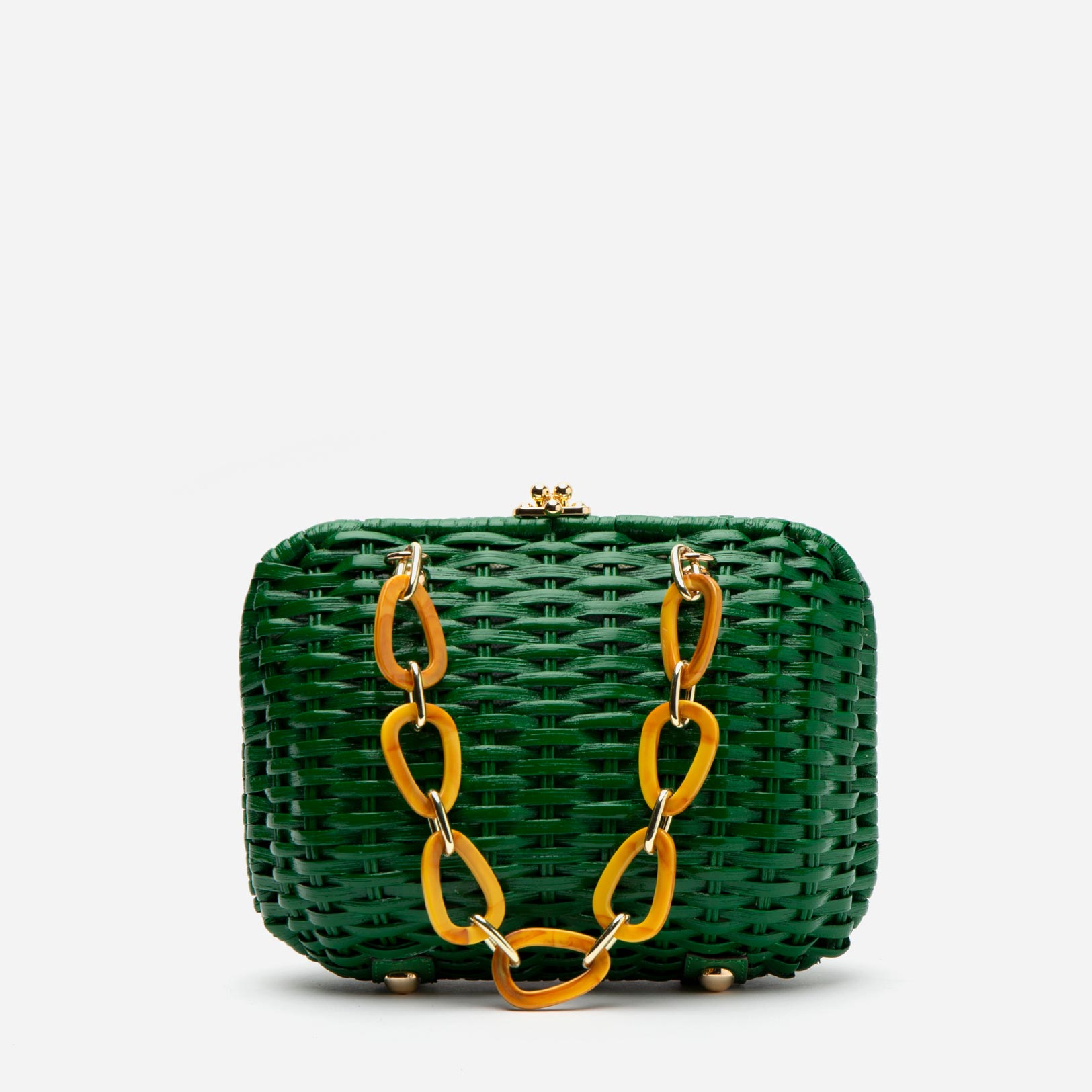 Hen Wicker Basket Green