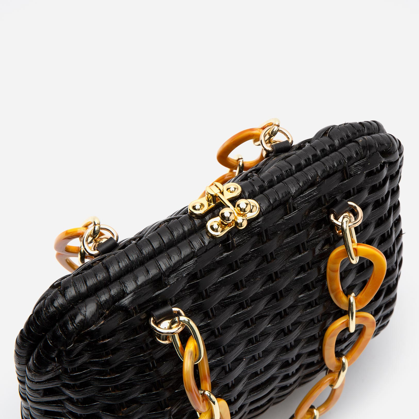 Hen Wicker Basket Black
