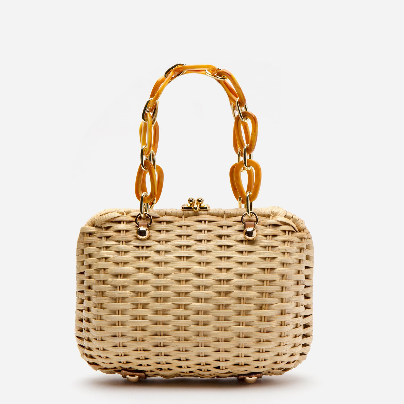 Hen Wicker Basket Natural