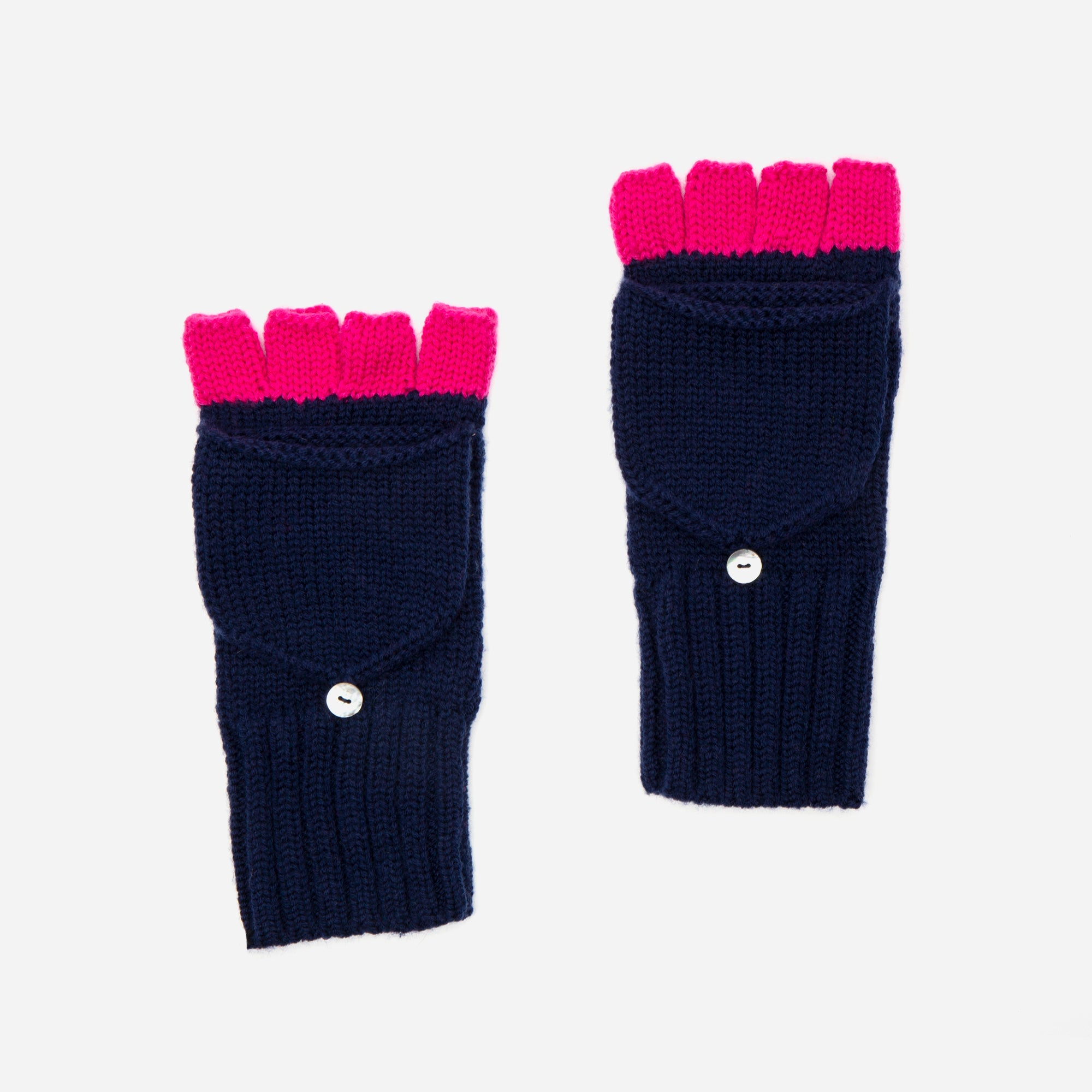 Hold Me Wool Mittens Navy