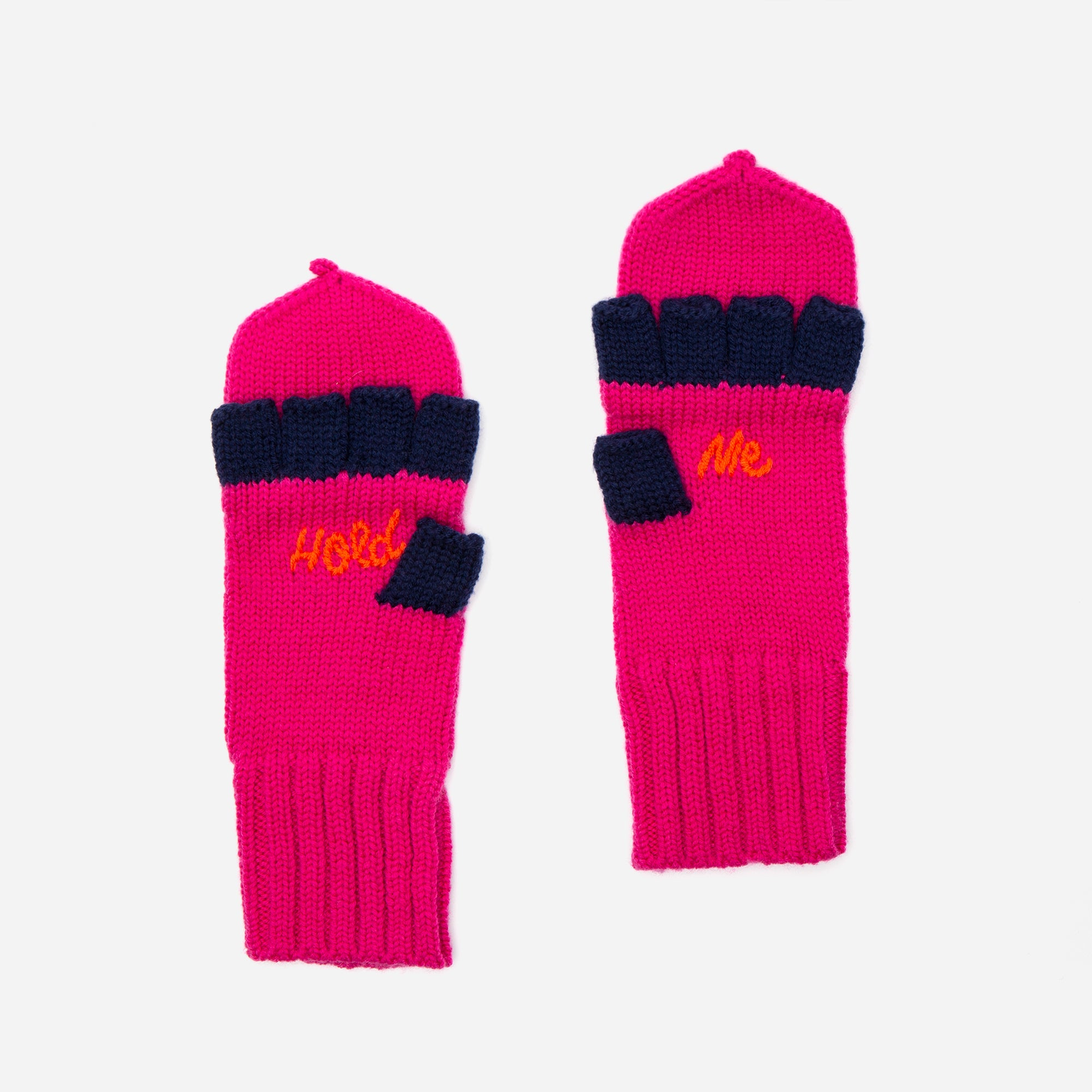 Hold Me Wool Mittens Pink - Frances Valentine