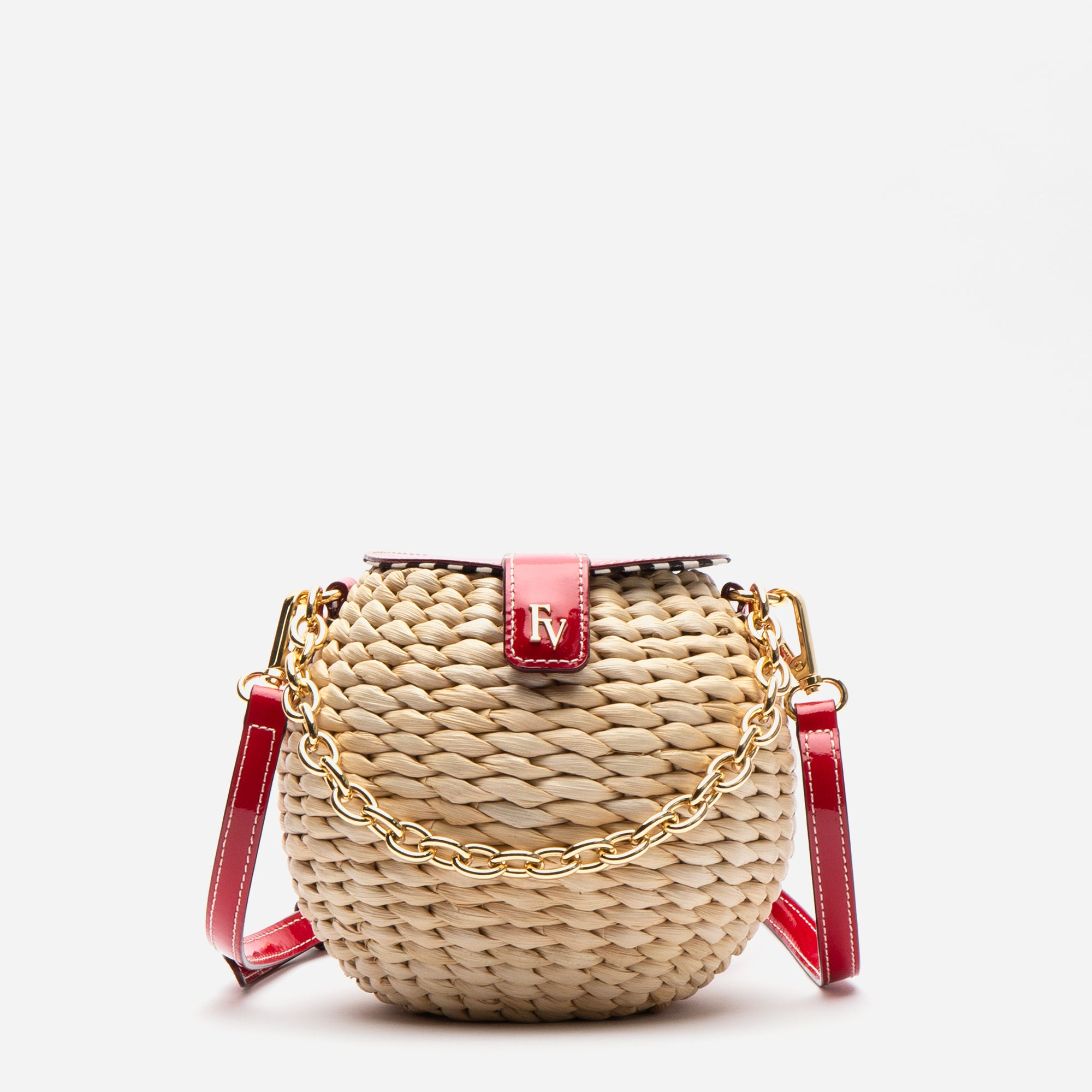 Honeypot Basket Crossbody Red Patent