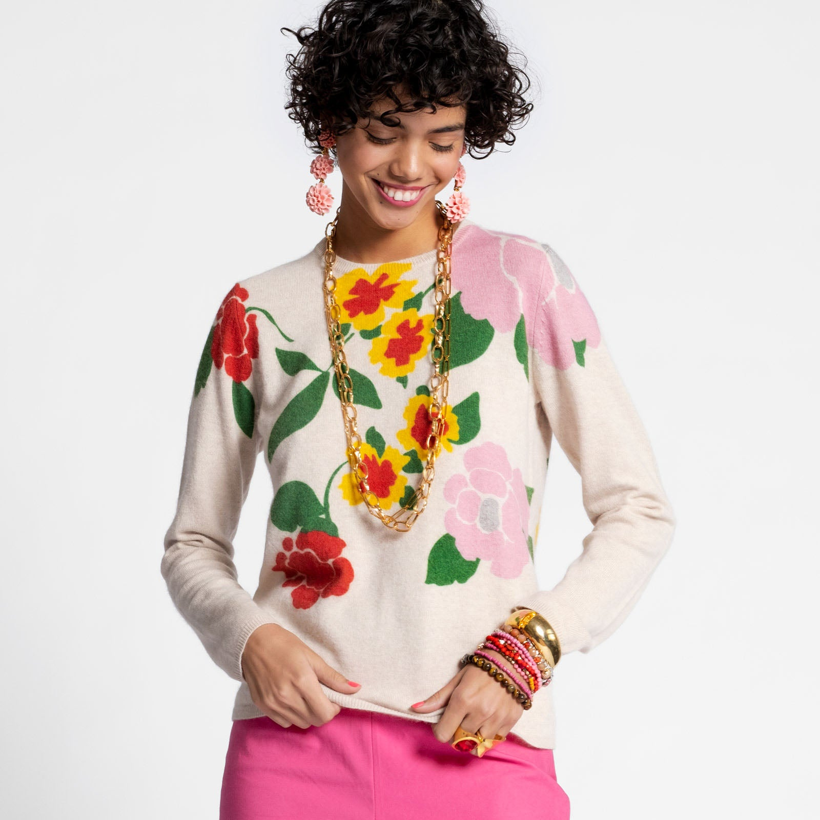 Honey Sweater Floral Garland - Frances Valentine