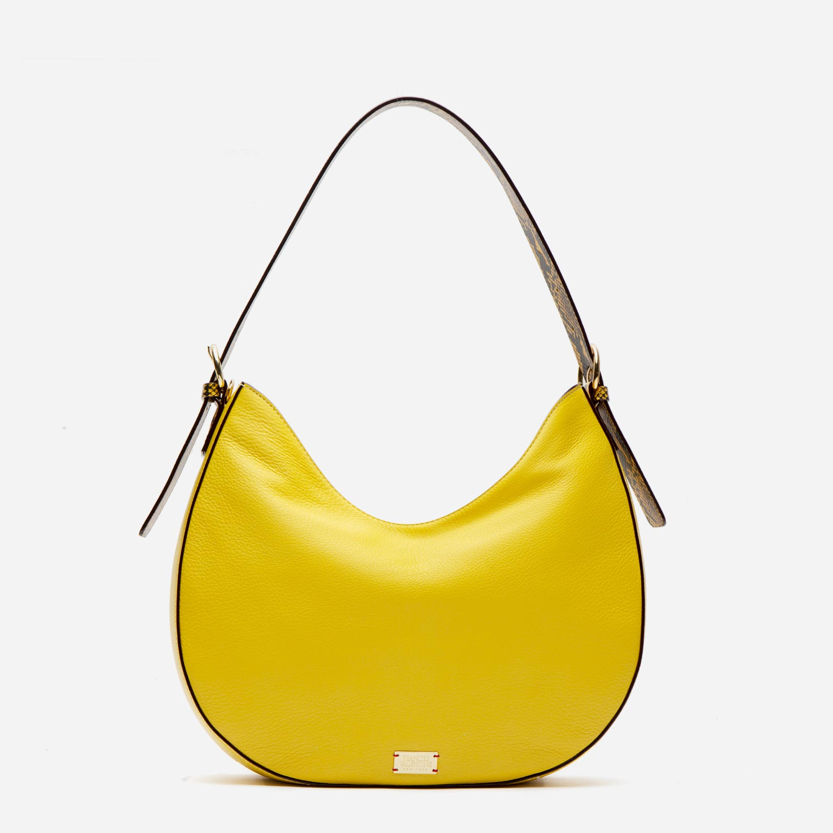 Honey Tumbled Leather Hobo Yellow