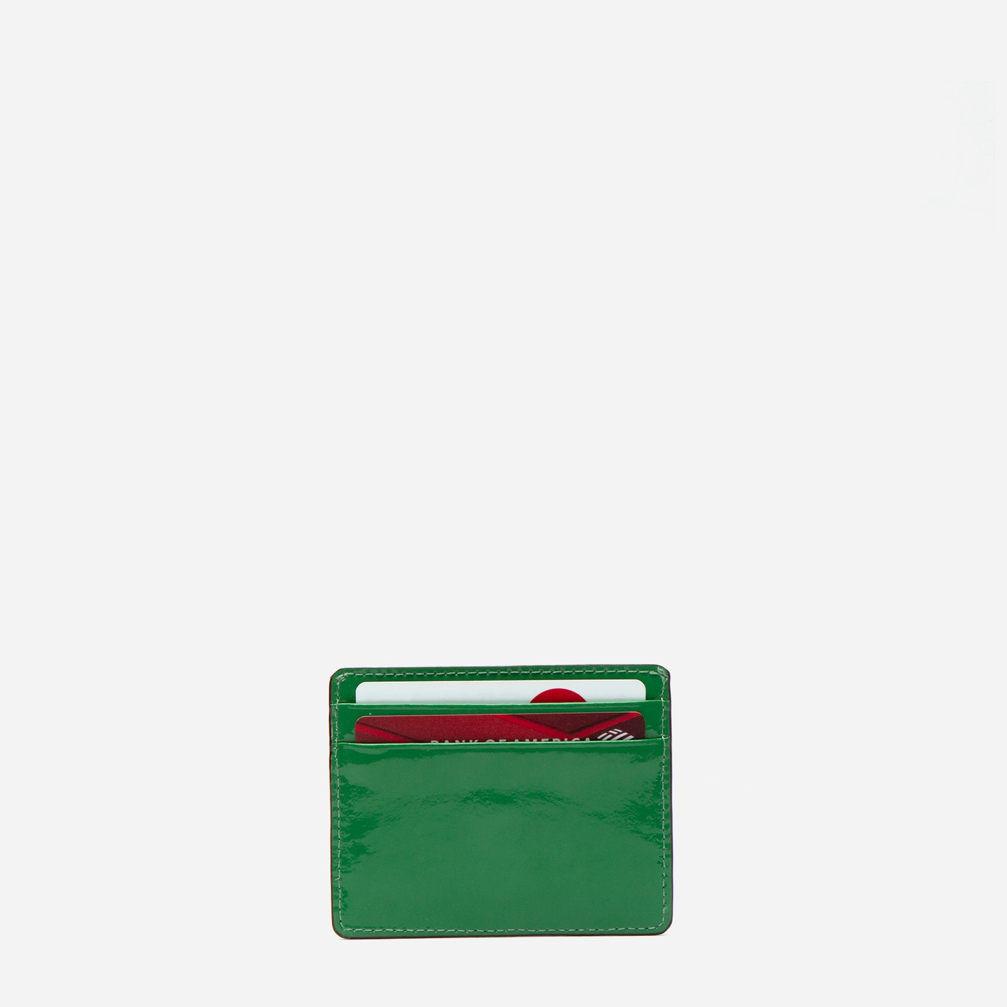 ID Card Case Soft Patent Green Yellow