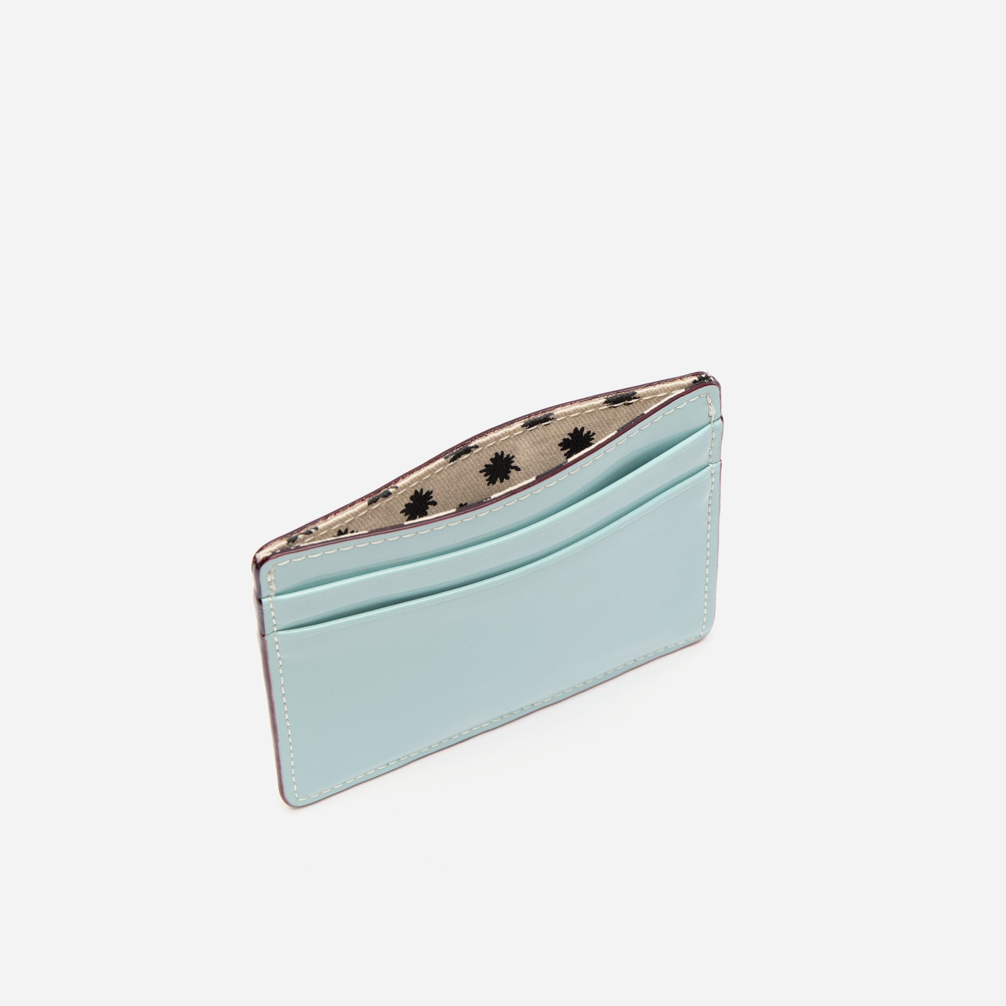 ID Card Case Soft Patent Light Blue Red