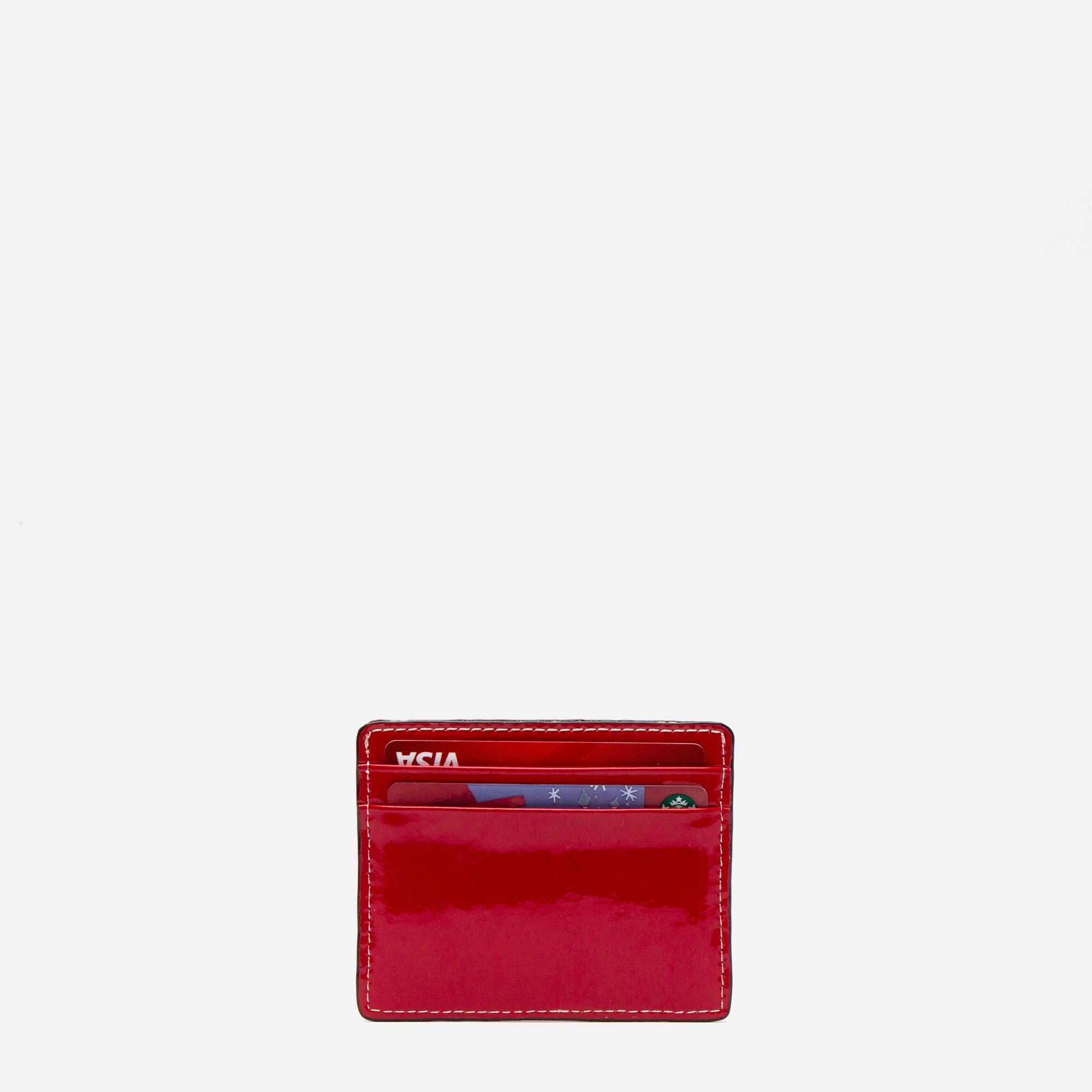 ID Card Case Soft Patent Red Light Blue
