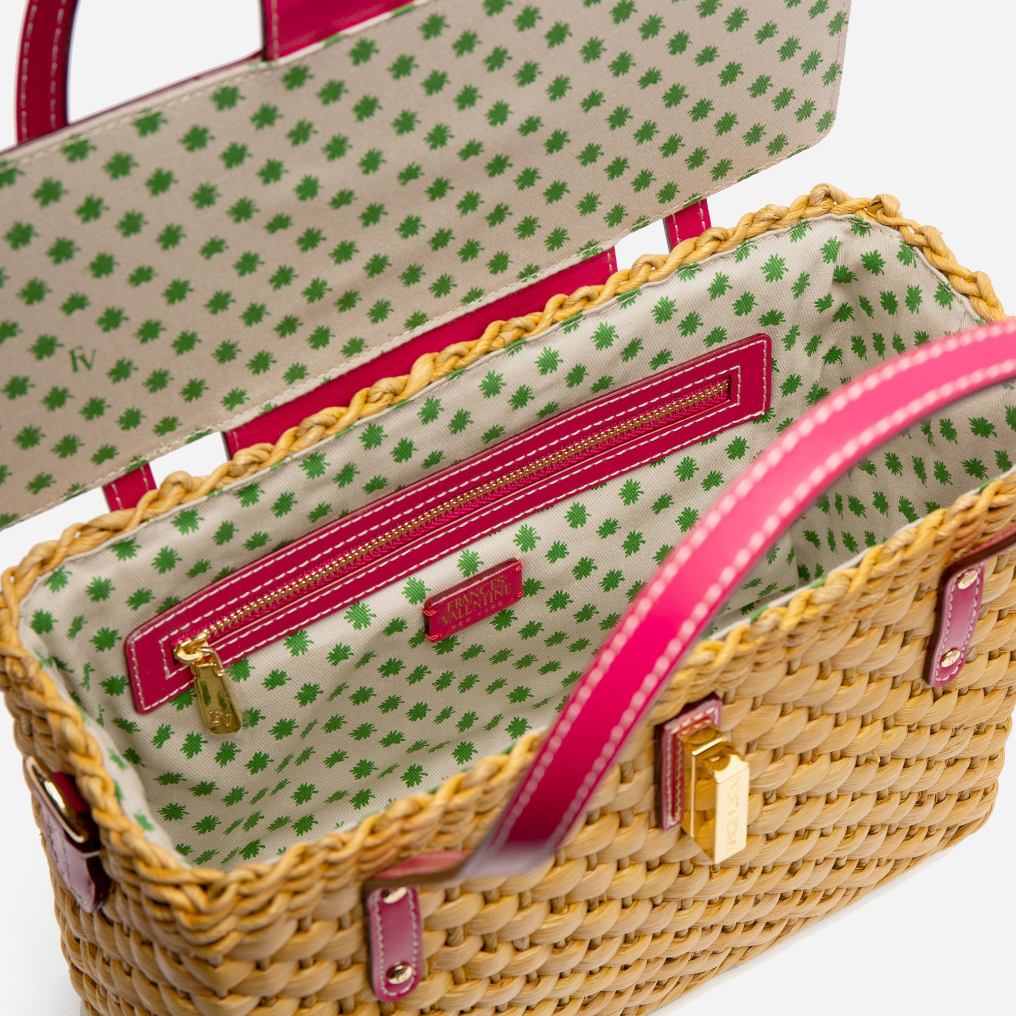 Imogene Basket Natural Pink