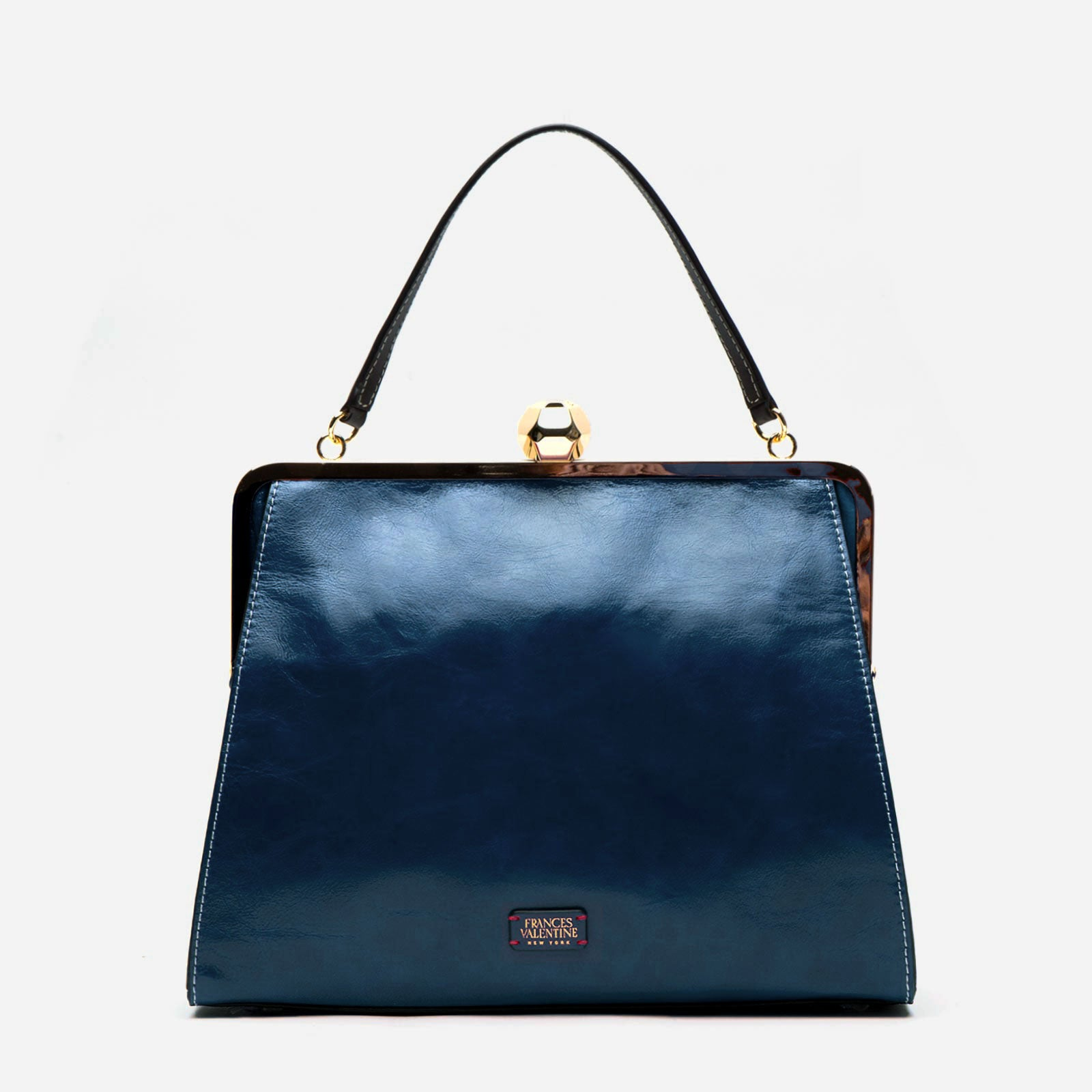 Jackie Naplak Leather Navy Oyster - Frances Valentine