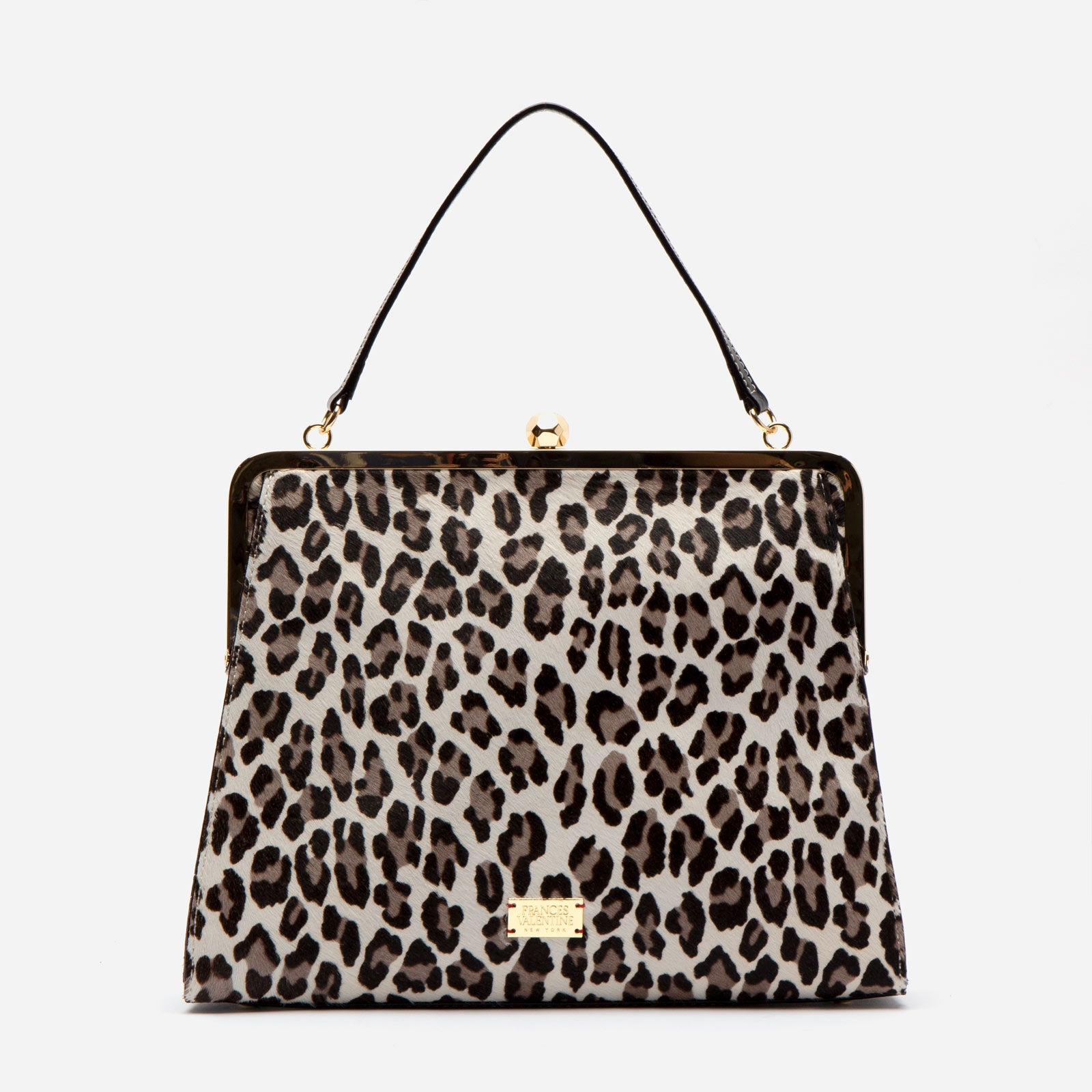 Jackie Printed Haircalf Snow Leopard