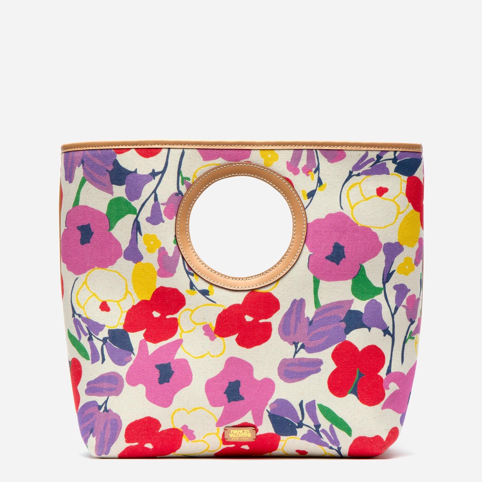 Jan Circle Handle Tote Spring Blossom