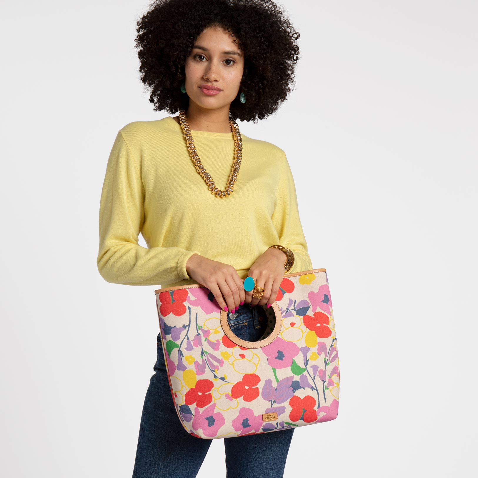 Jan Canvas Tote Spring Blossom