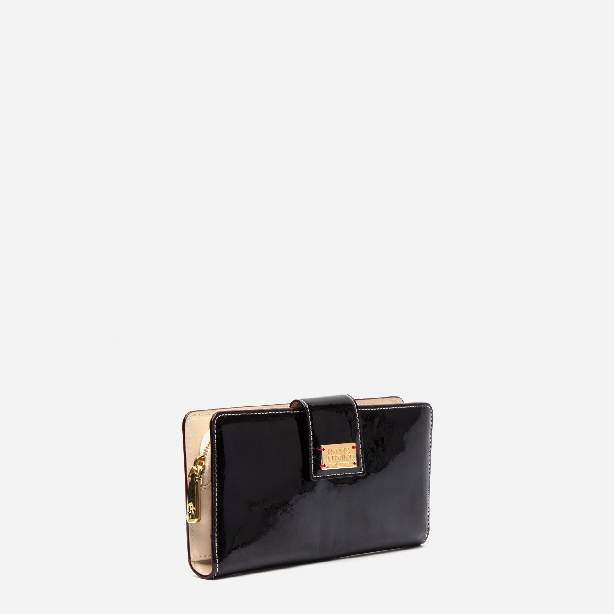 Jefferson Slim Wallet Soft Patent Black Oyster