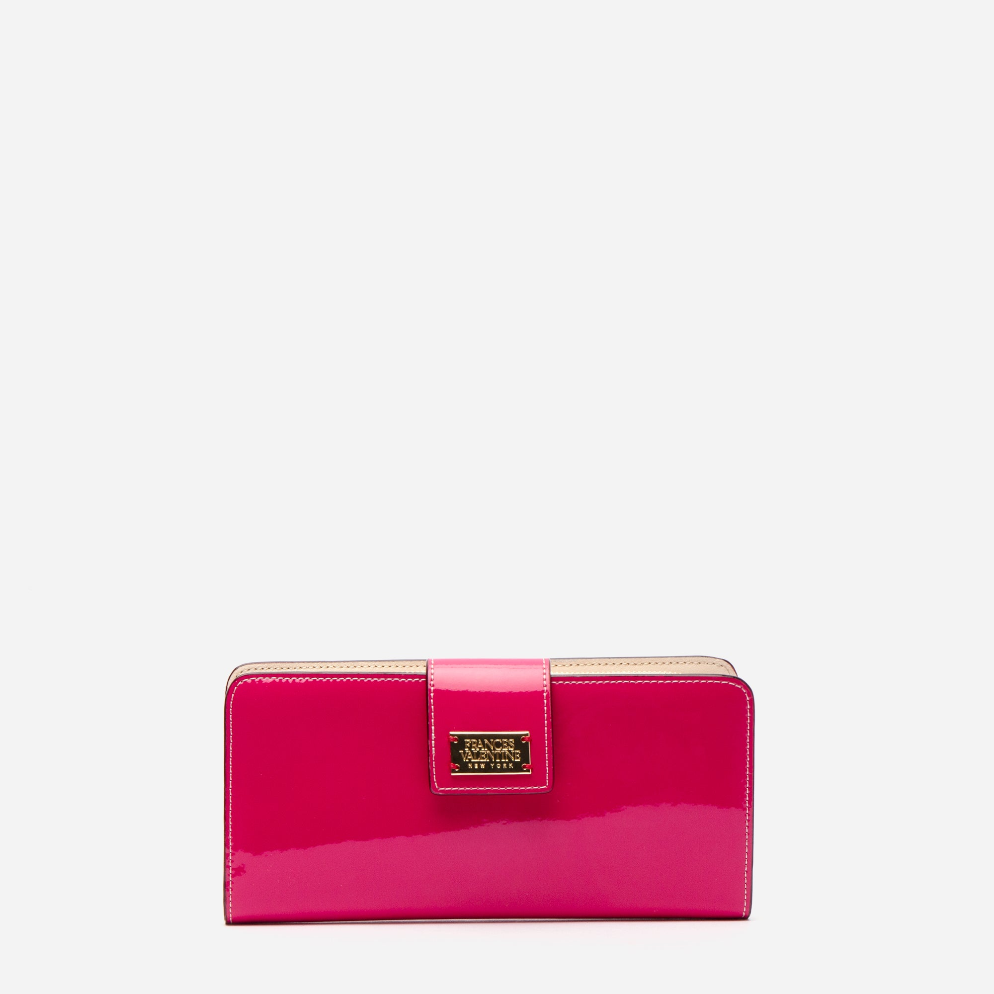 Jefferson Slim Wallet Soft Patent Pink Oyster
