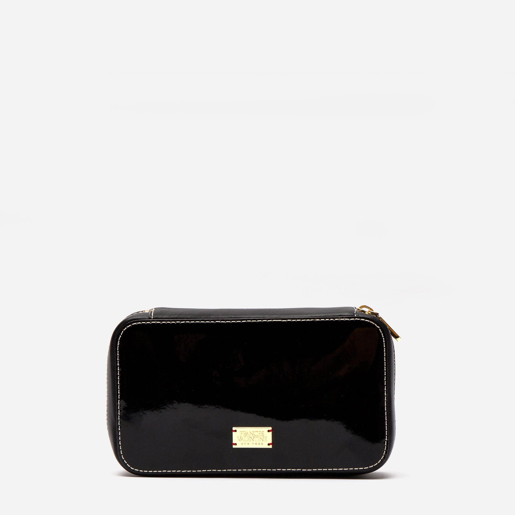 Jewelry Case Soft Patent Black Oyster