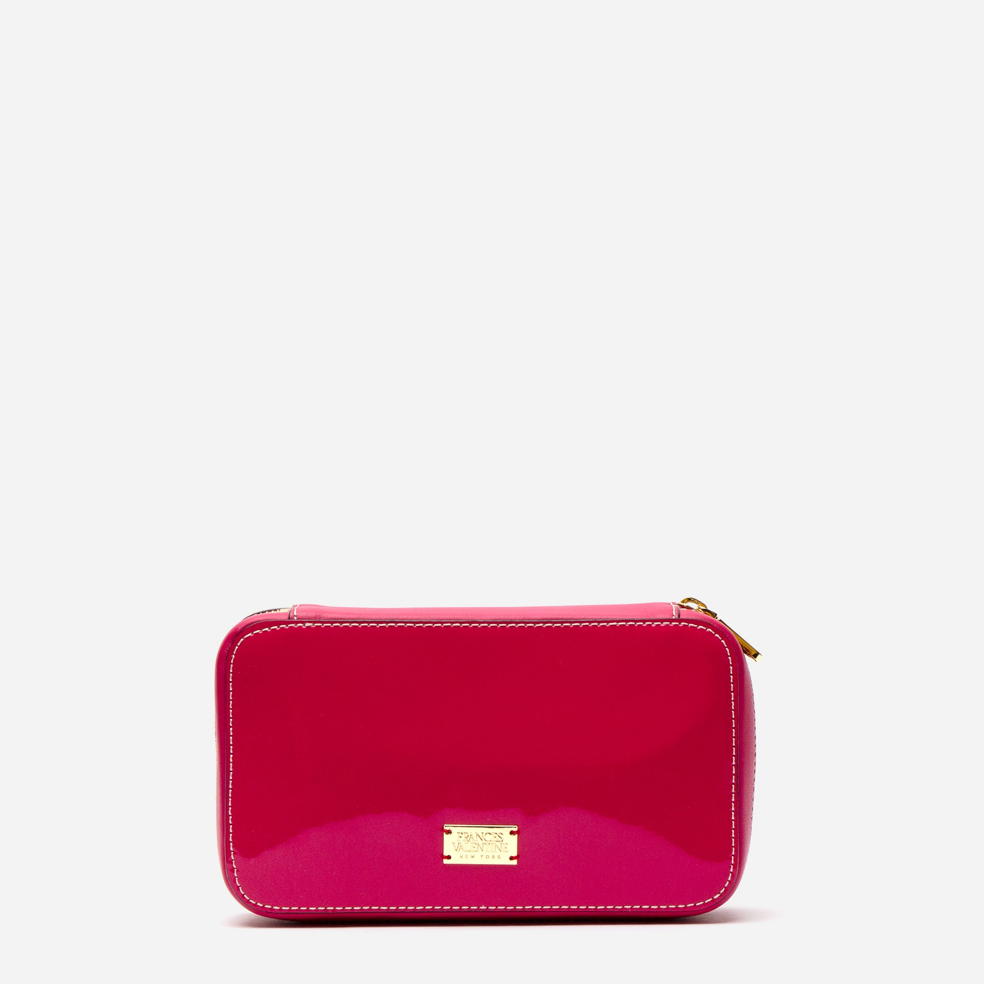 Jewelry Case Soft Patent Leather Pink