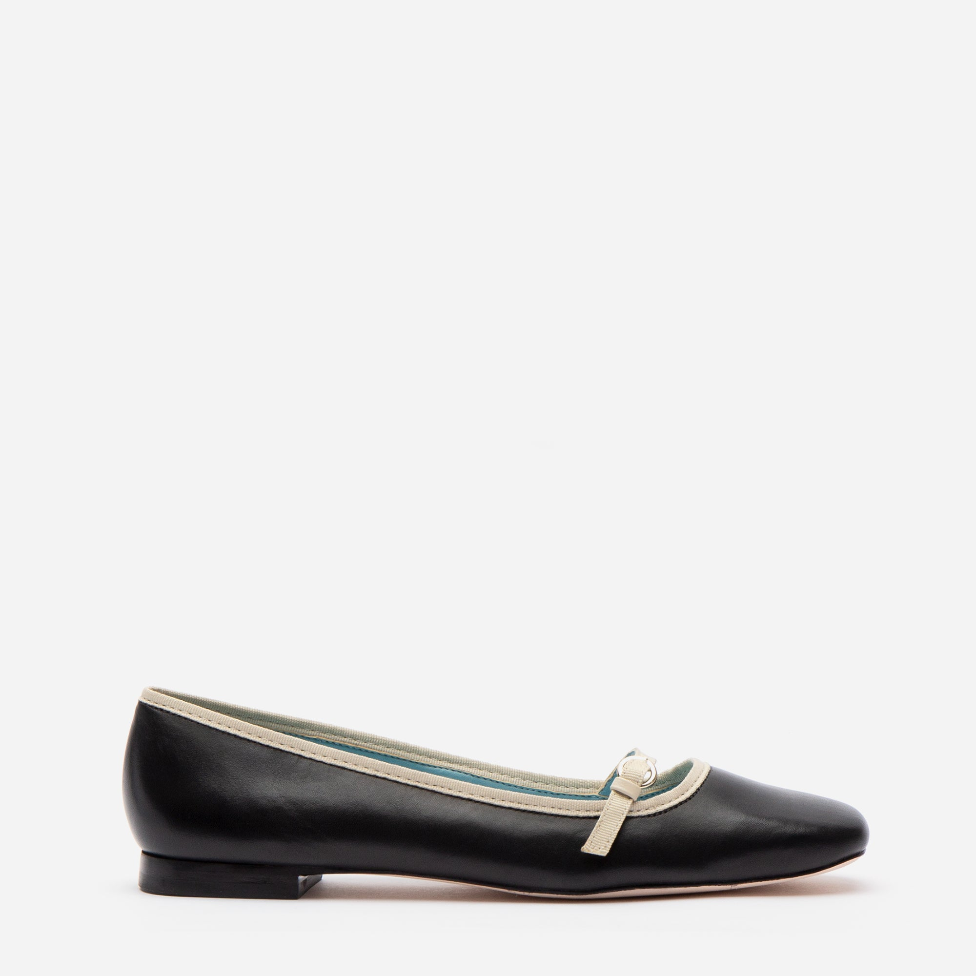 Josie Leather Flat Black Oyster - Frances Valentine