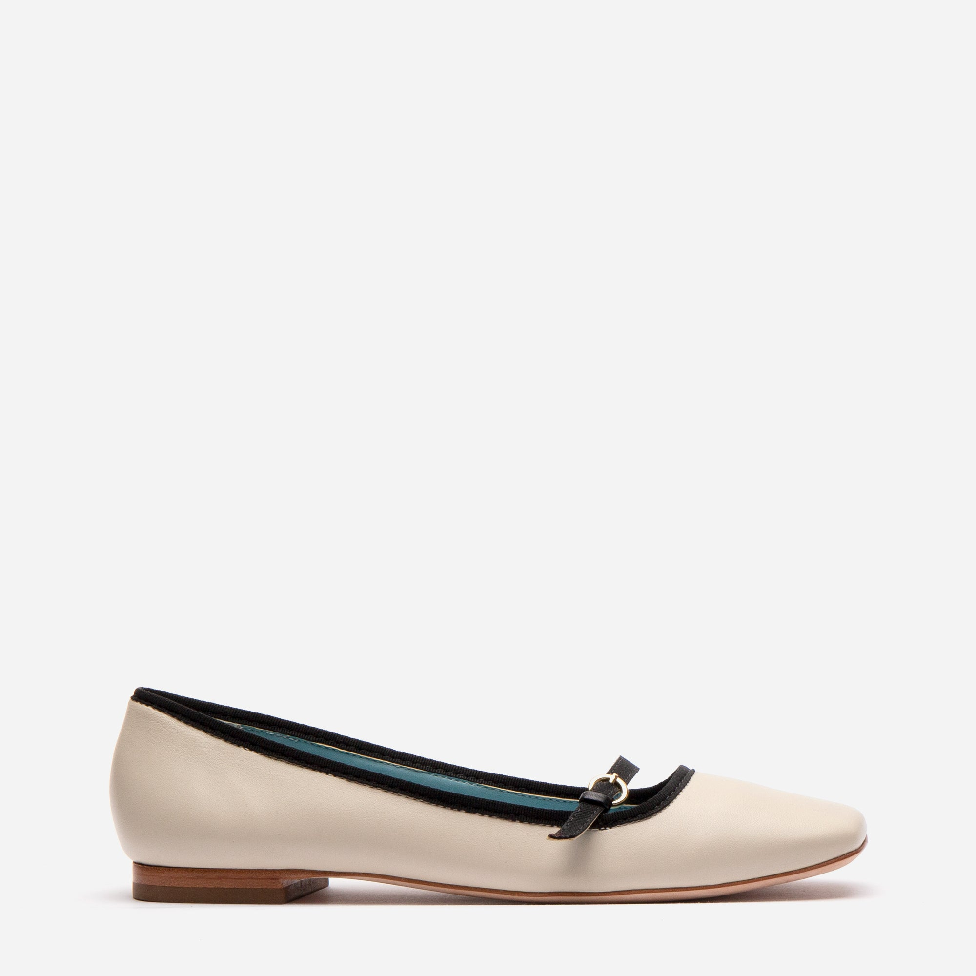 Josie Leather Flat Oyster Black - Frances Valentine