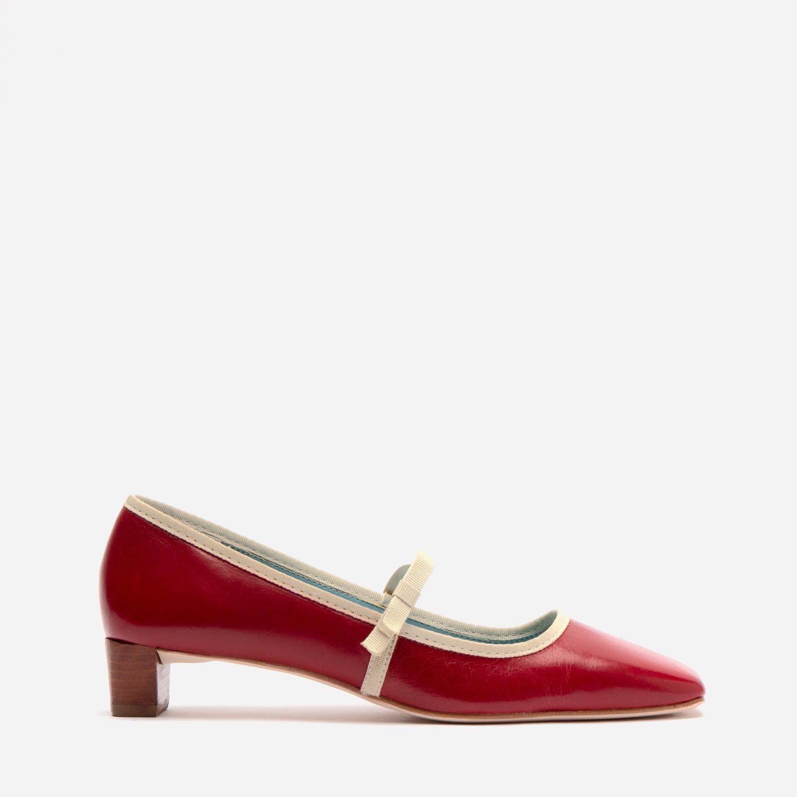Jude Heel Naplak Leather Red