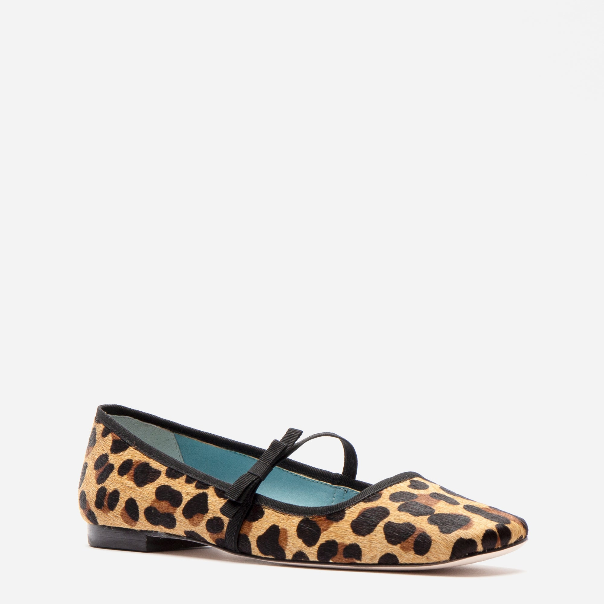 Jude Mary Jane Flat Leopard Printed Haircalf