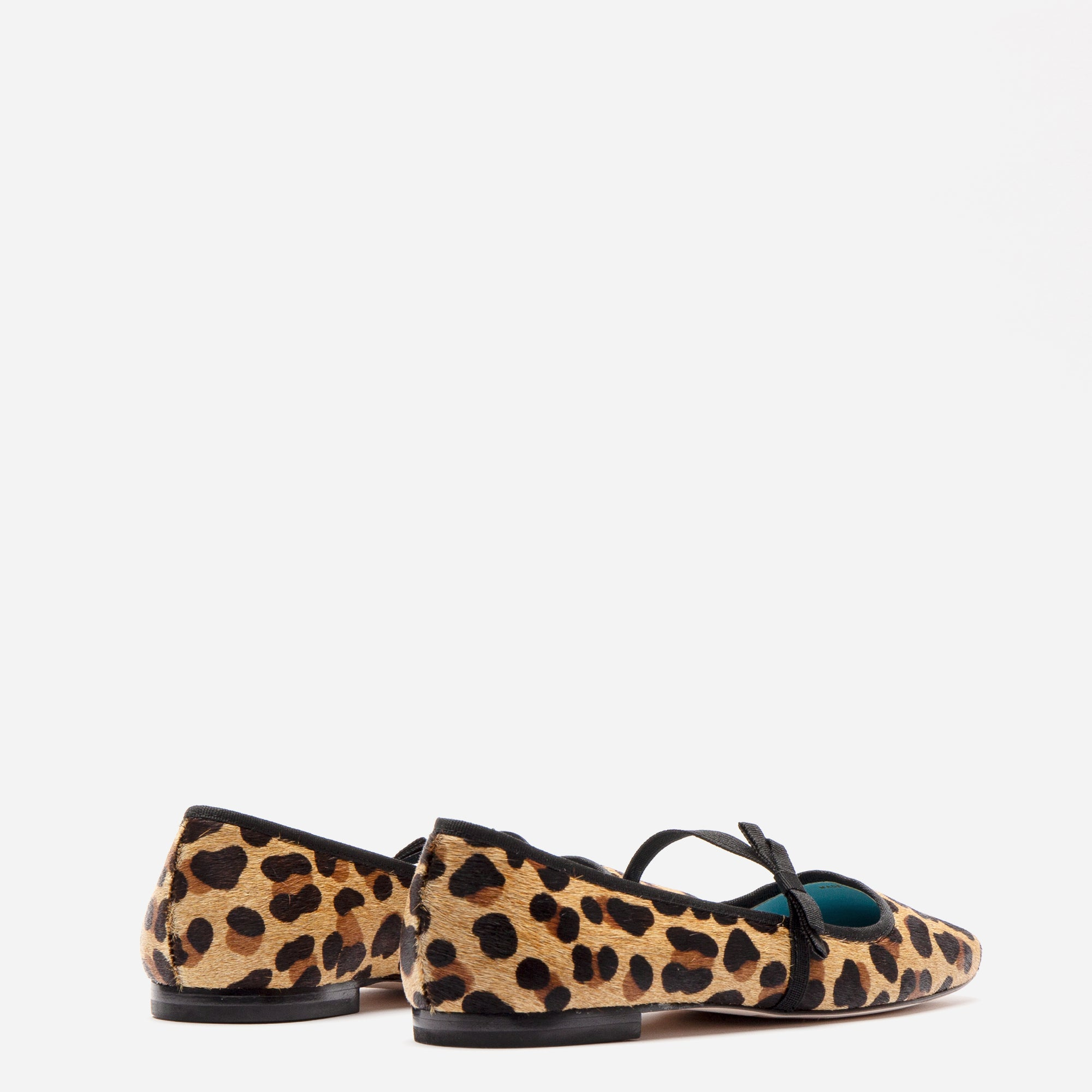 Jude Mary Jane Flats Leopard Printed Haircalf