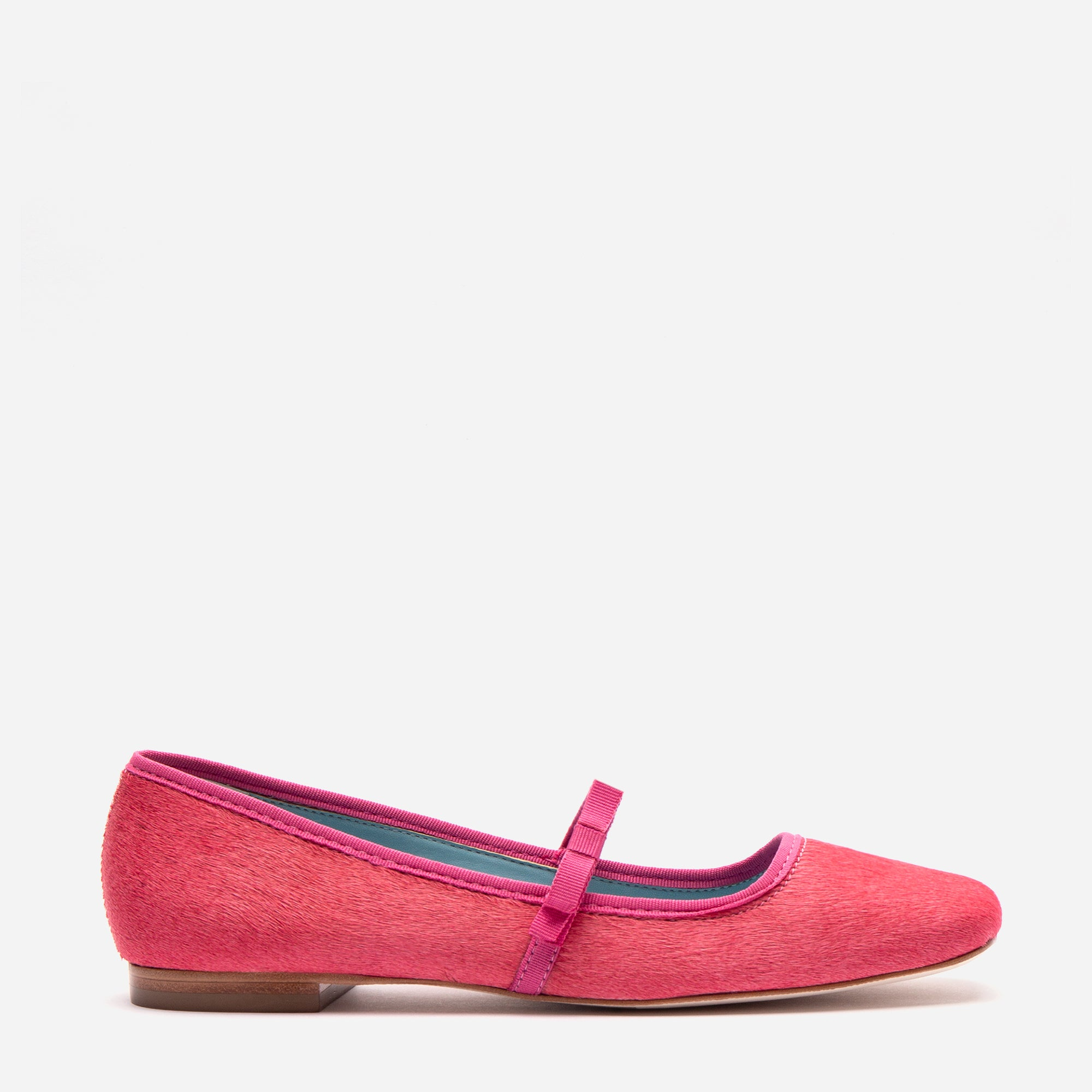 Jude Mary Jane Flat Pink Haircalf - Frances Valentine
