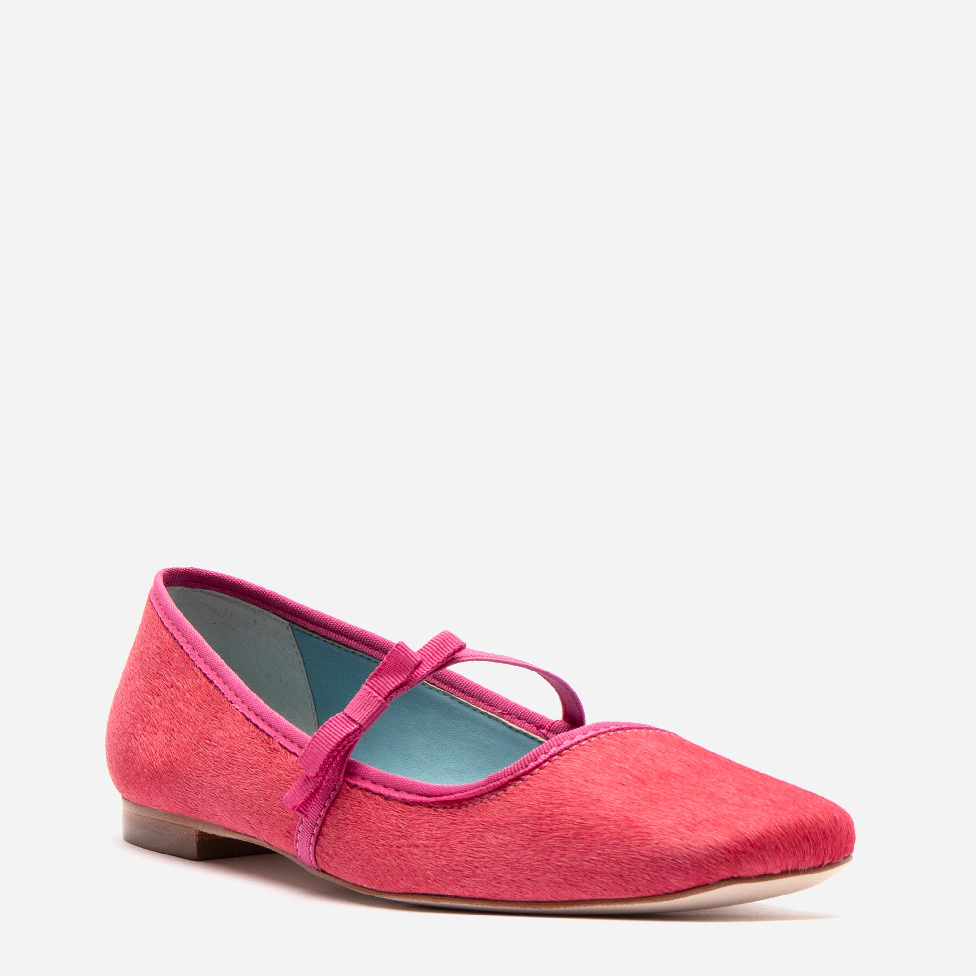 Jude Mary Jane Flats Pink Haircalf