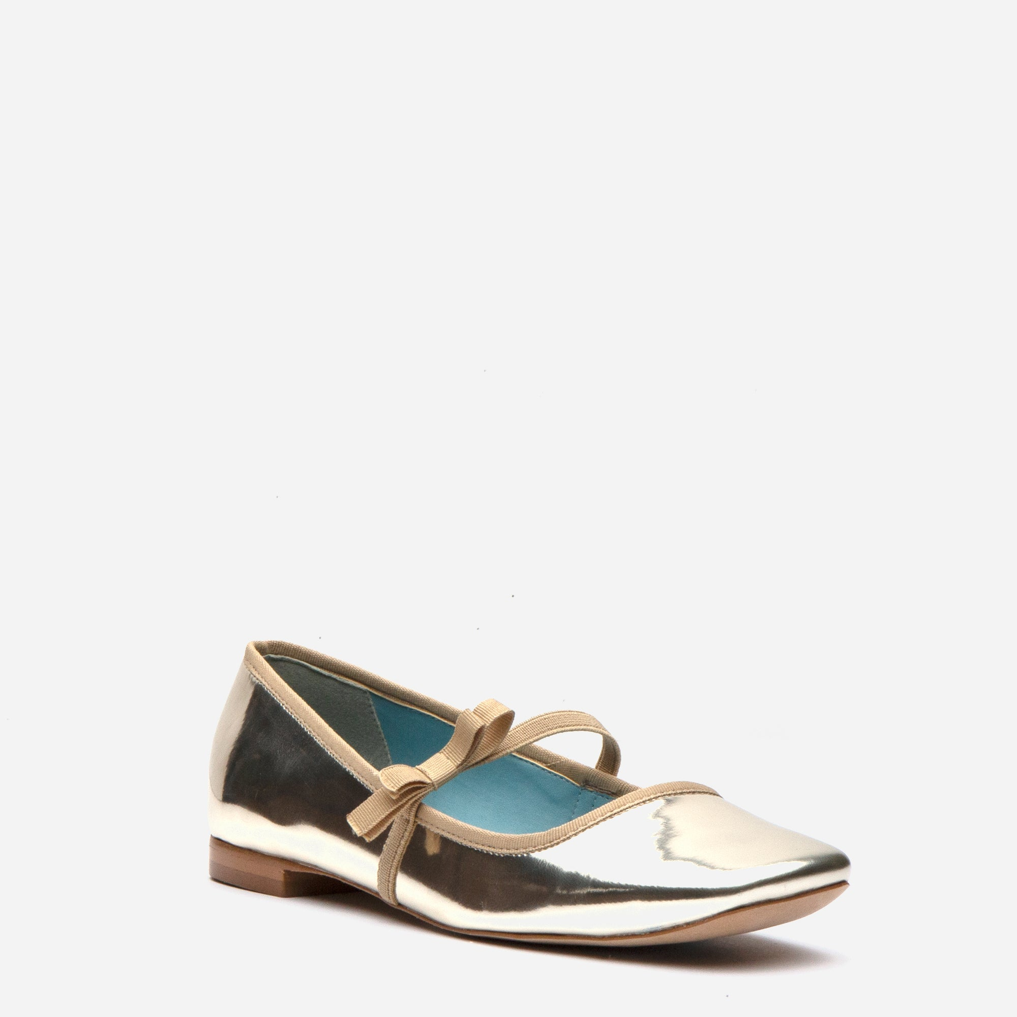 Jude Mary Jane Vegan Leather Flats Platino