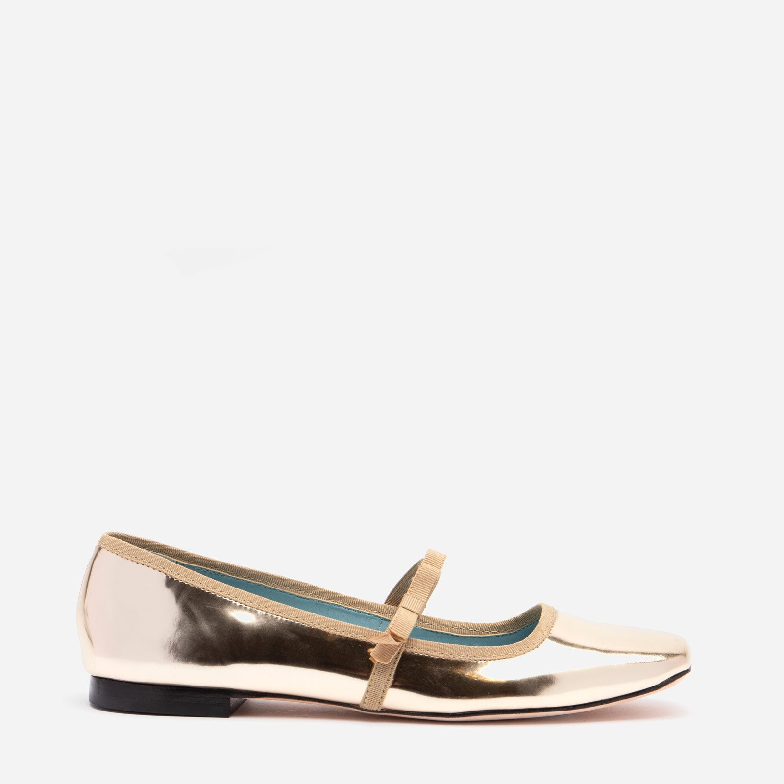 Jude Mary Jane Vegan Leather Flat Platino