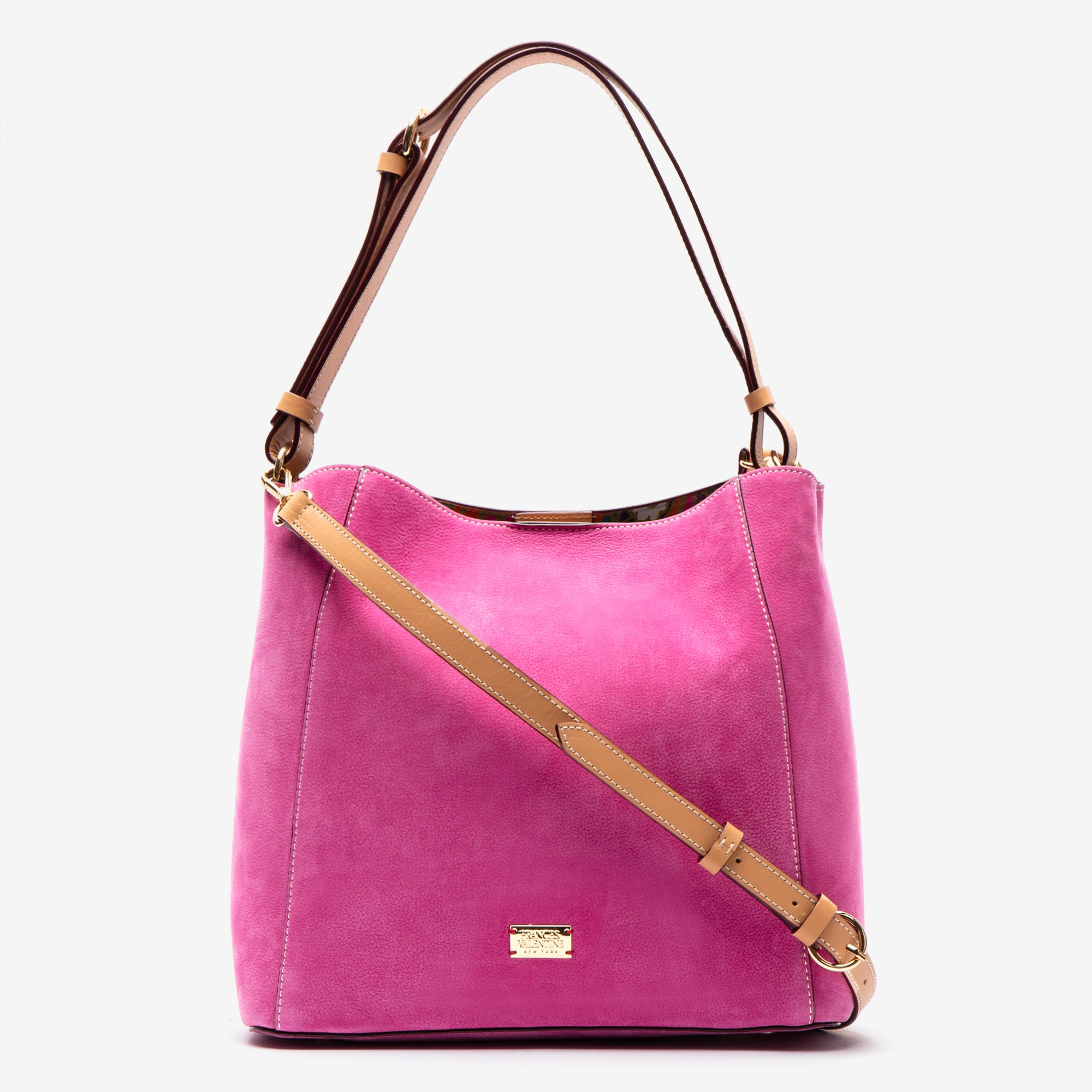 June Hobo Handbag Tumbled Nubuck Pink
