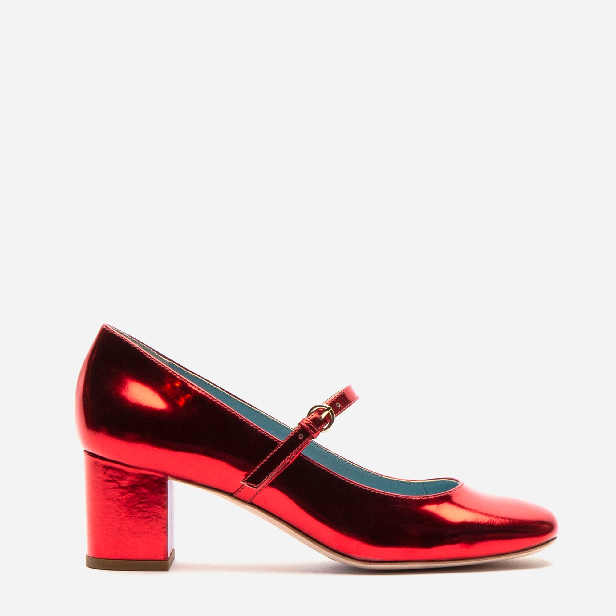 Kat Mary Jane Heels Specchio Red - Frances Valentine