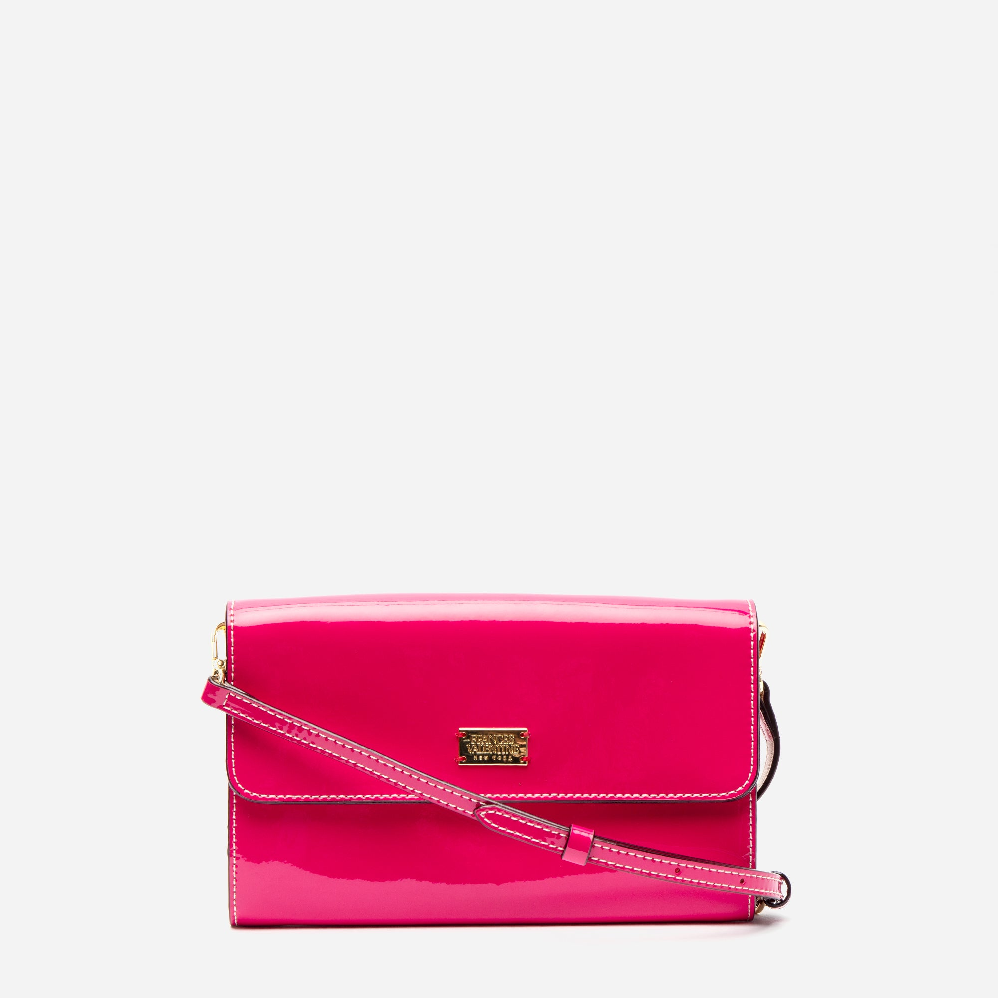 Kelly Crossbody Clutch Soft Patent Pink Oyster