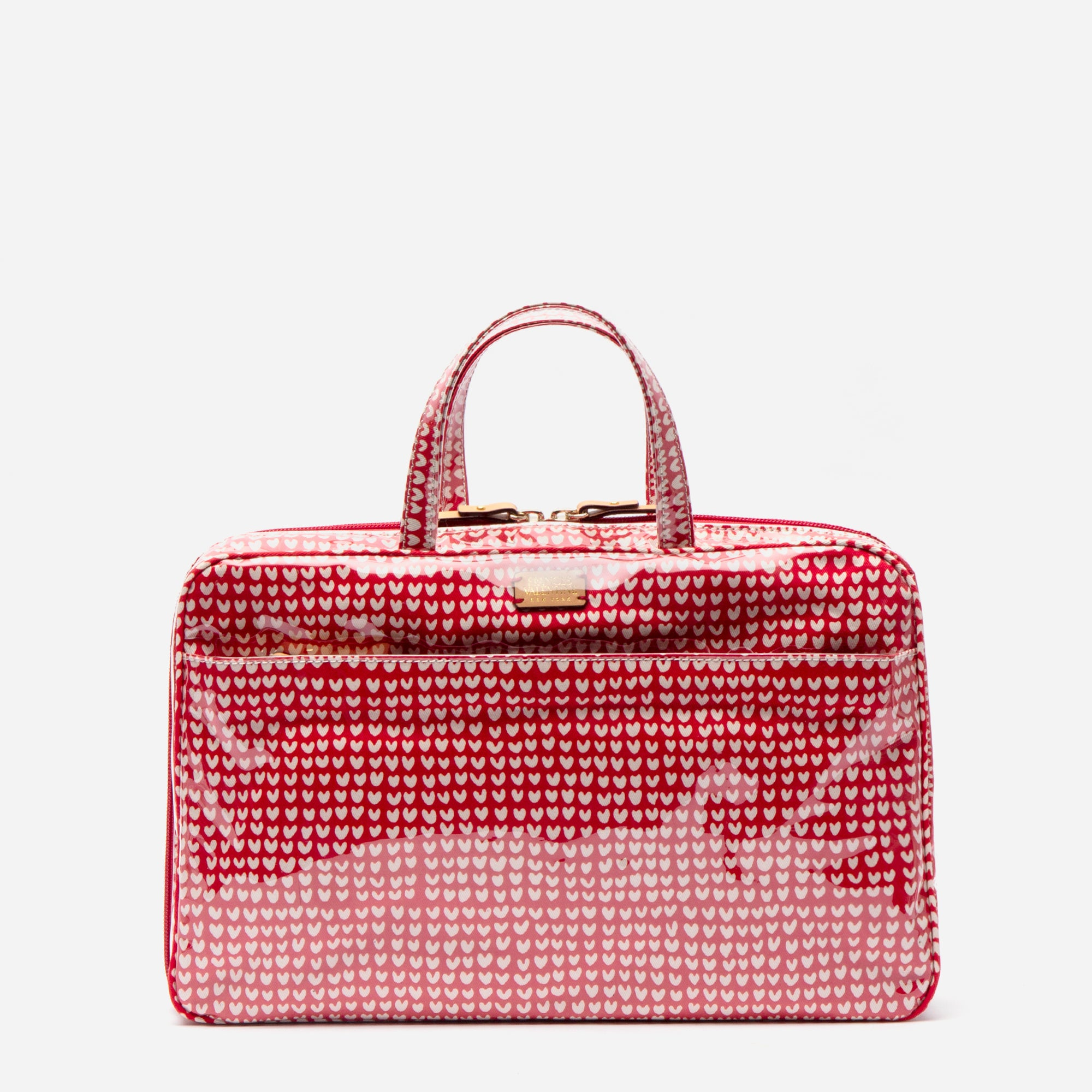 Travel Cosmetic Heart Print Red