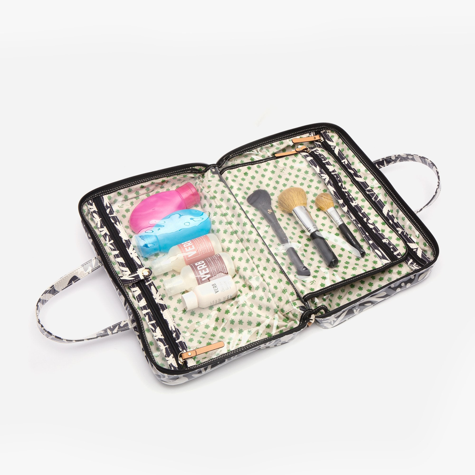 Travel Cosmetic Otomi Print Black
