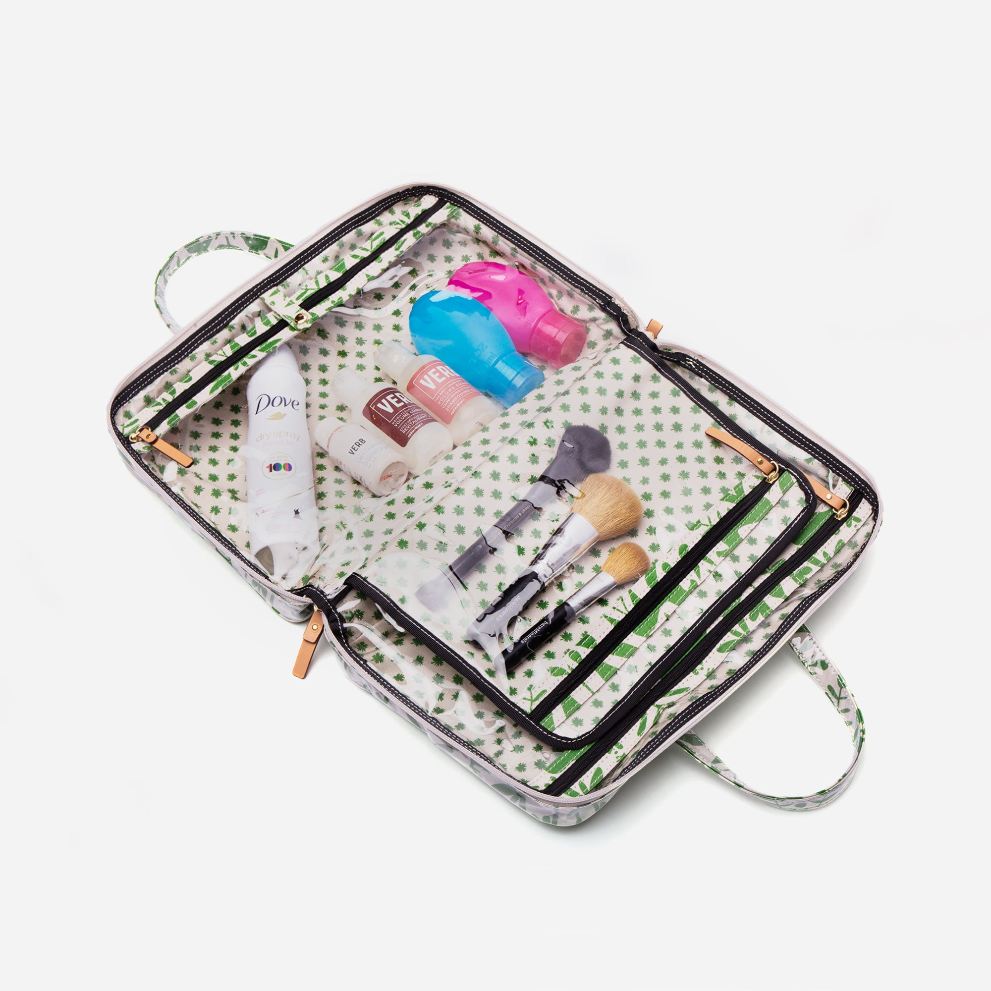 Travel Cosmetic Otomi Print Green