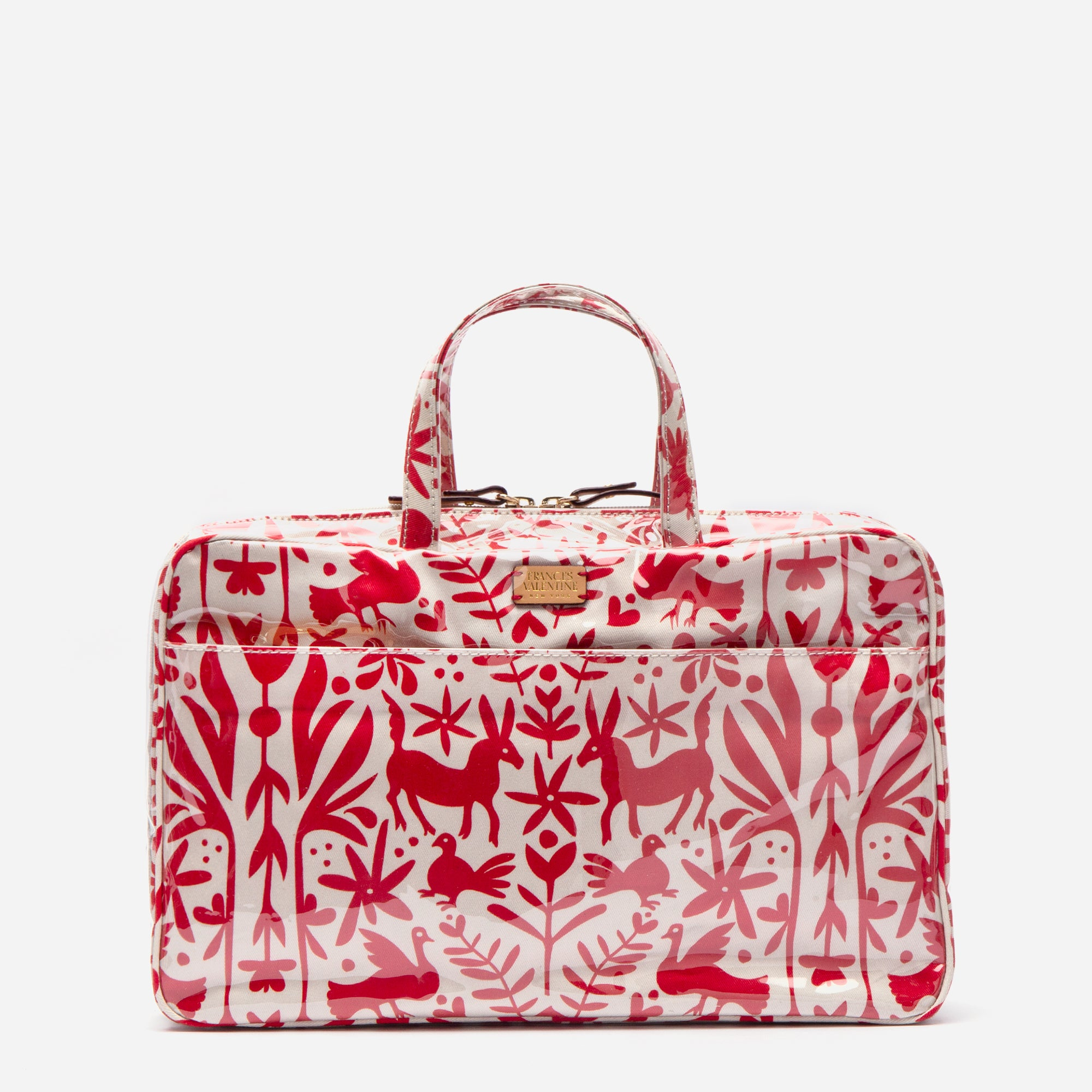Travel Cosmetic Otomi Print Red