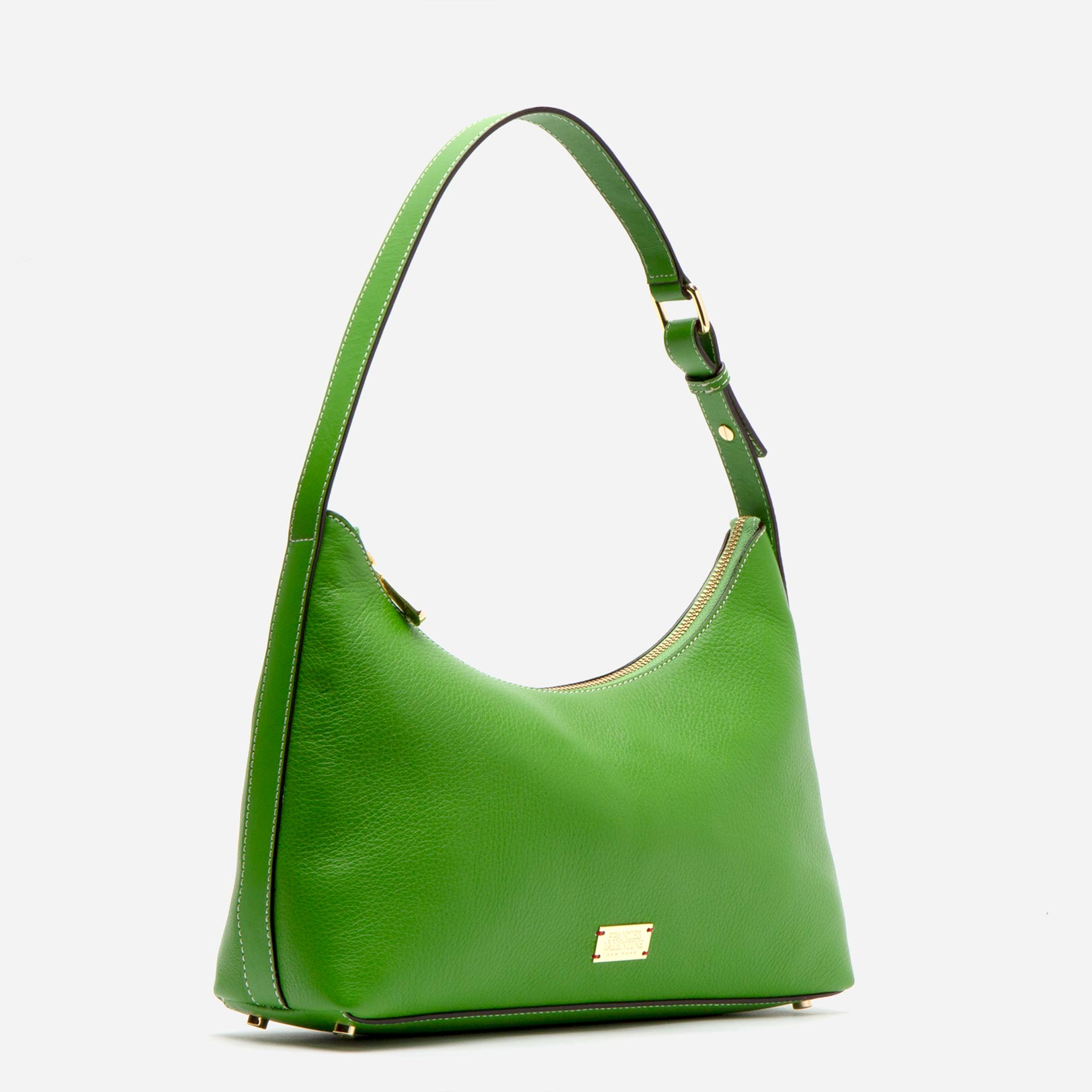 Laura Hobo Tumbled Leather Green