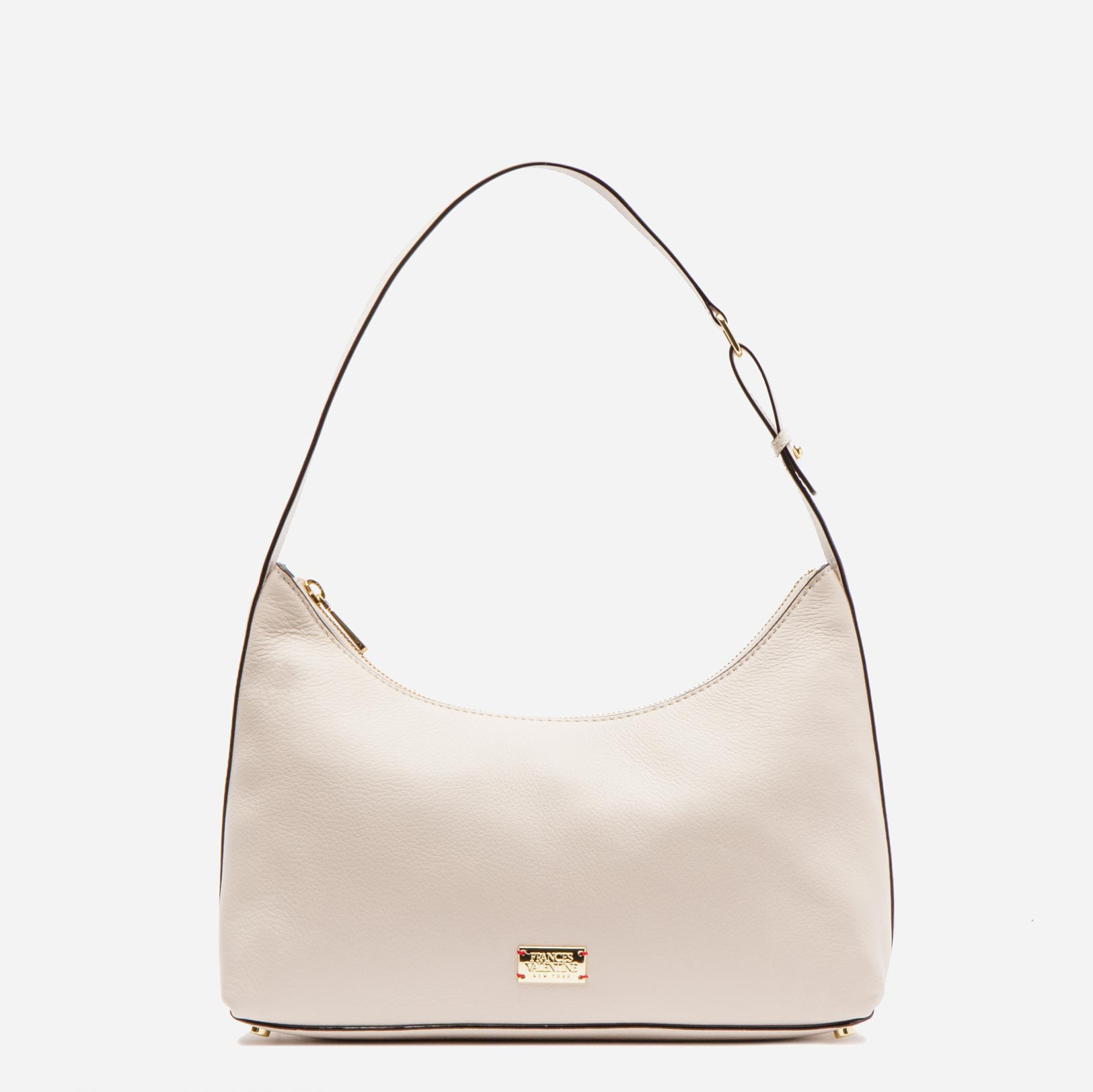 Laura Hobo Tumbled Leather Oyster - Frances Valentine