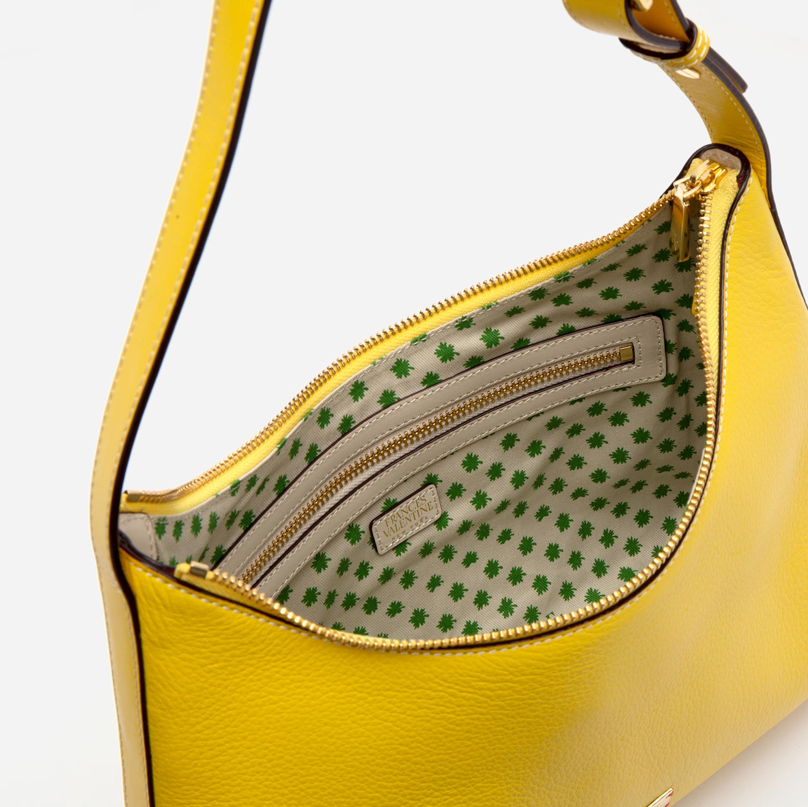Laura Hobo Tumbled Leather Yellow