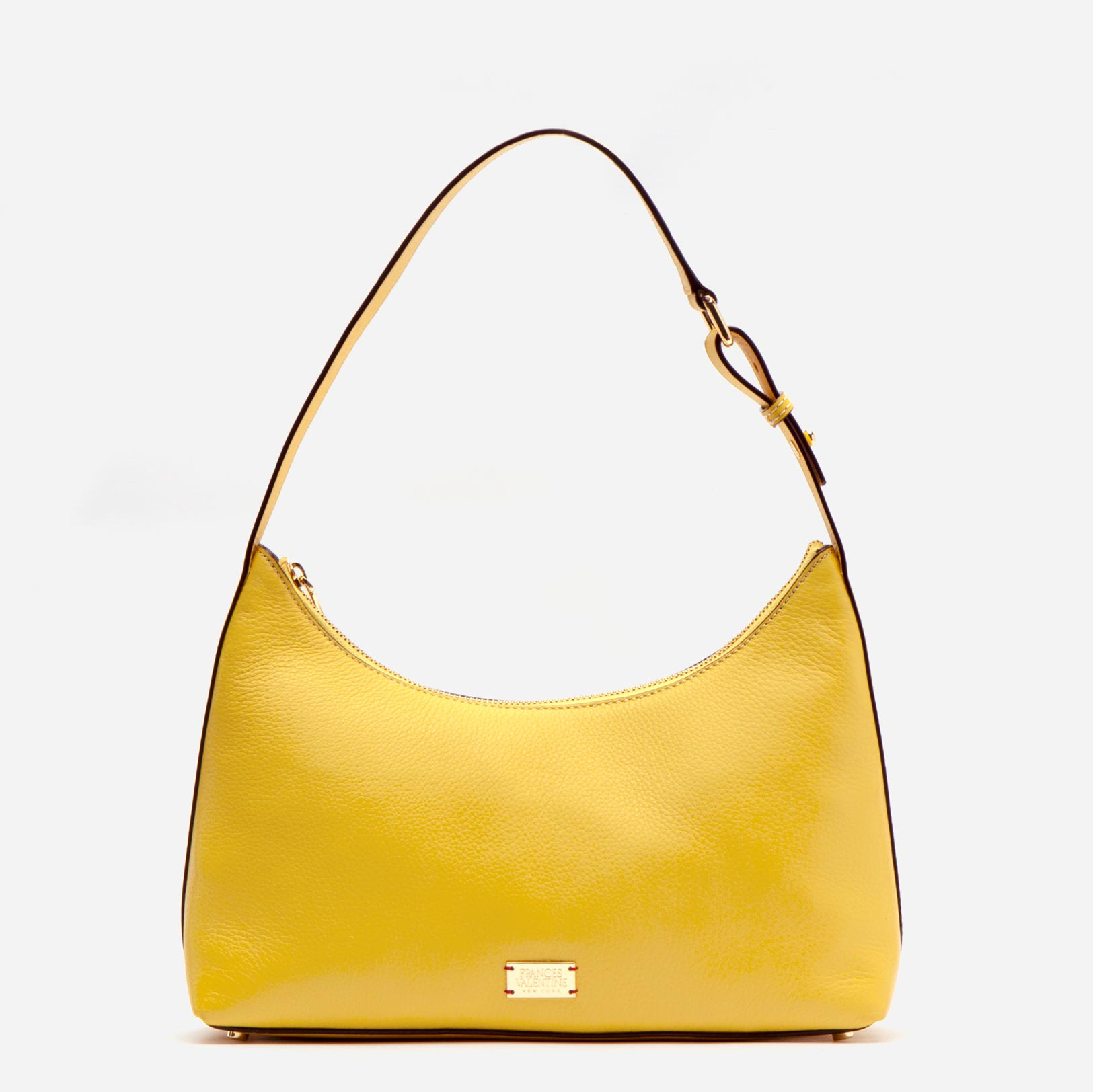 Laura Hobo Tumbled Leather Yellow - Frances Valentine
