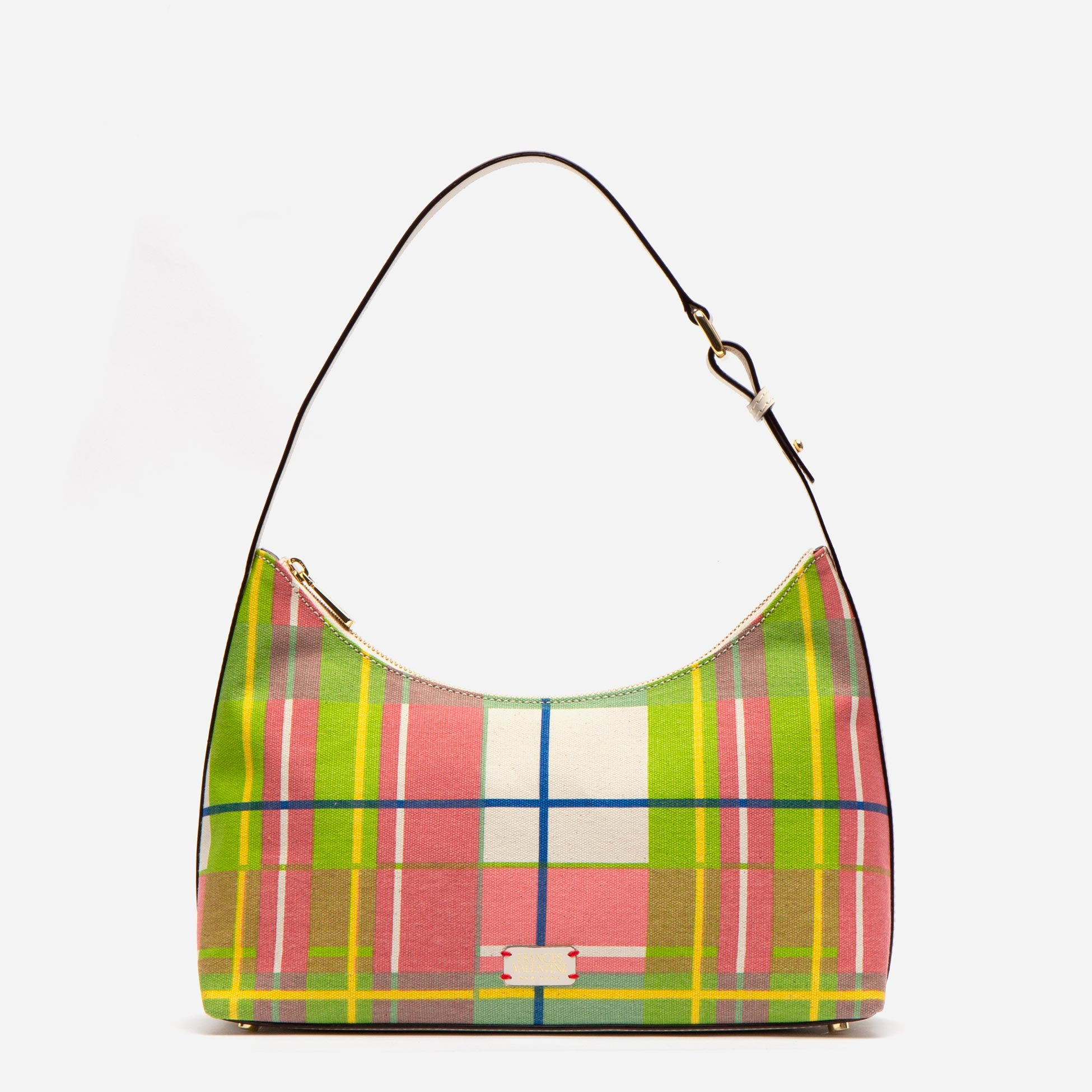 Laura Hobo Canvas Bermuda Plaid