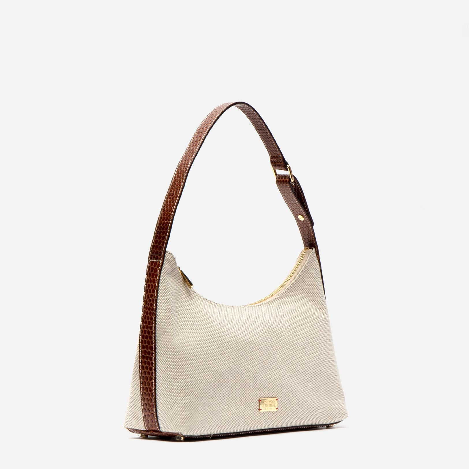 Laura Hobo Salt and Pepper Canvas Natural Luggage