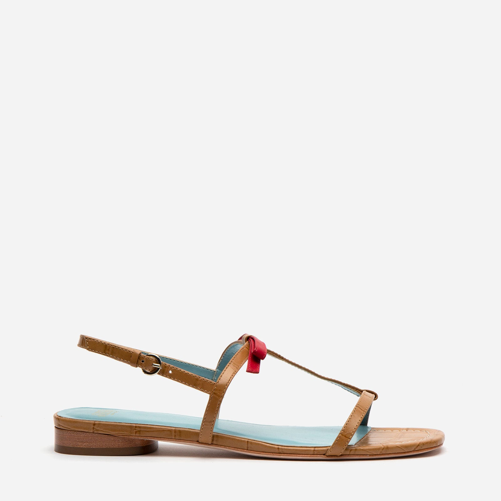 Lily Slingback Leather Sandals Camel