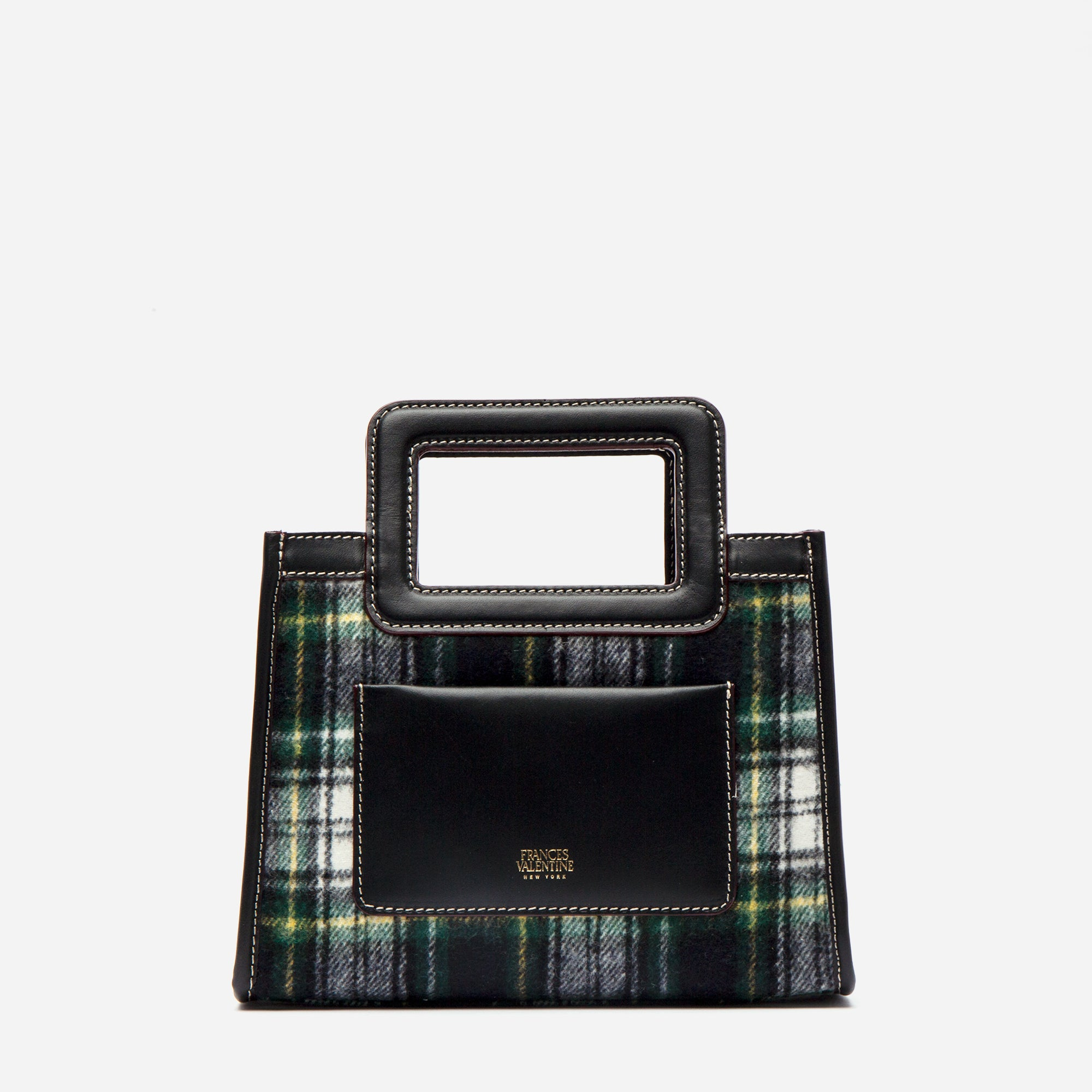 Lindsay Mini Shopper Plaid Wool - Frances Valentine