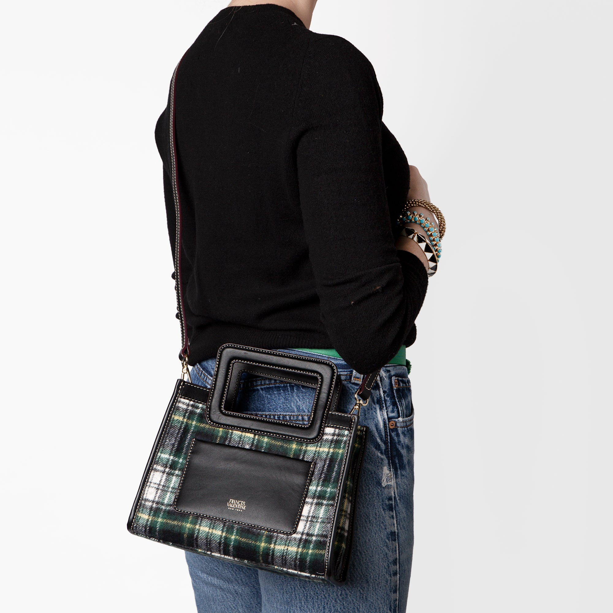 Lindsay Mini Shopper Plaid Wool